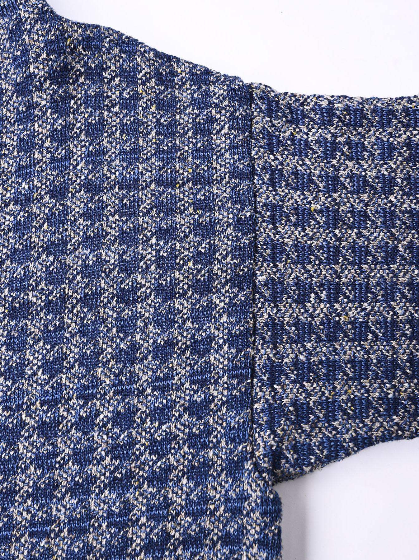 Indigo Knit Jacquard 908 Umahiko Sweater-11