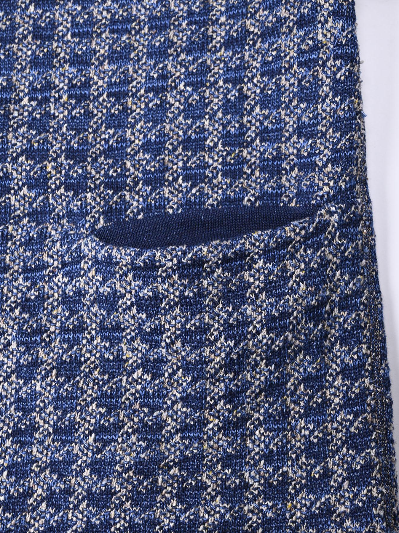 Indigo Knit Jacquard 908 Umahiko Sweater-12