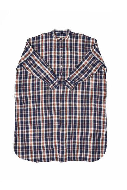 Indian Flannel Big Shirt-dress