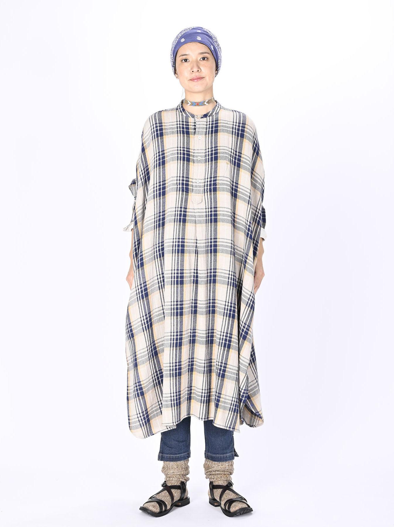 Indian Flannel Big Shirt-dress-2