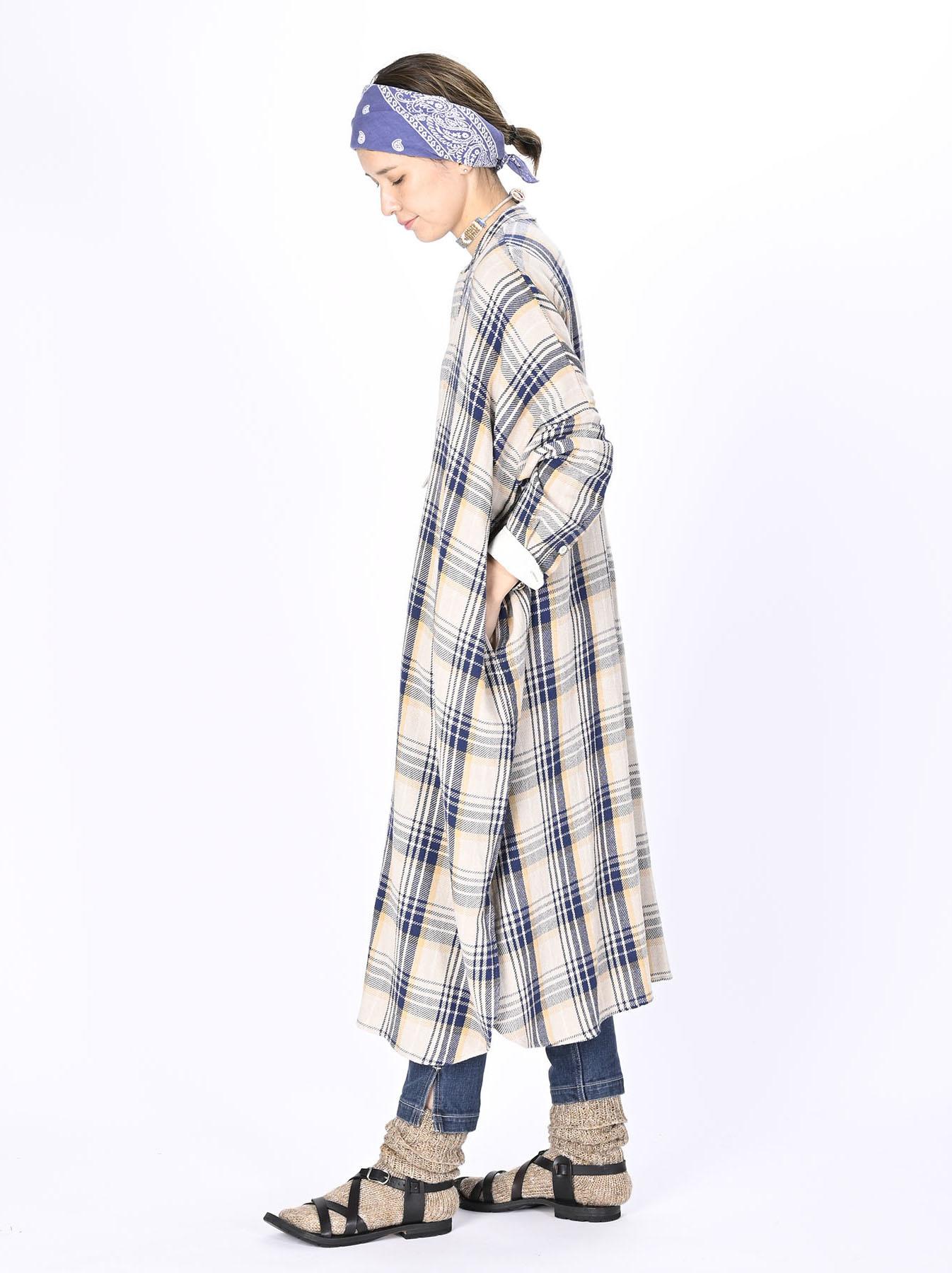 Indian Flannel Big Shirt-dress-3