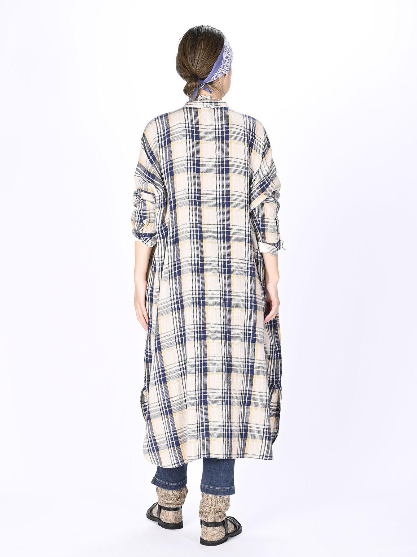 Indian Flannel Big Shirt-dress-4