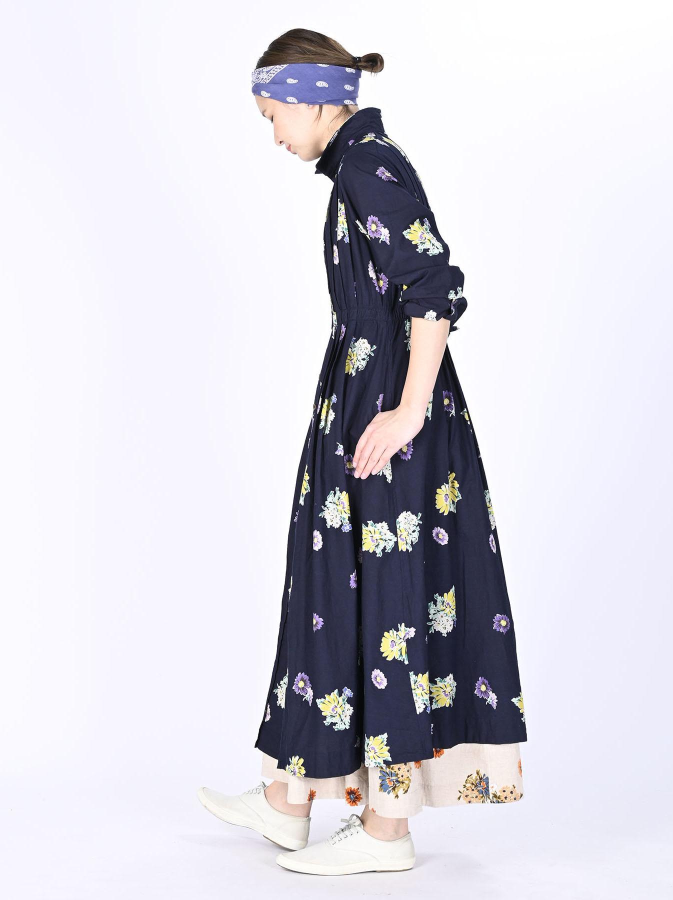 Indigo Margaret Print Dress-3