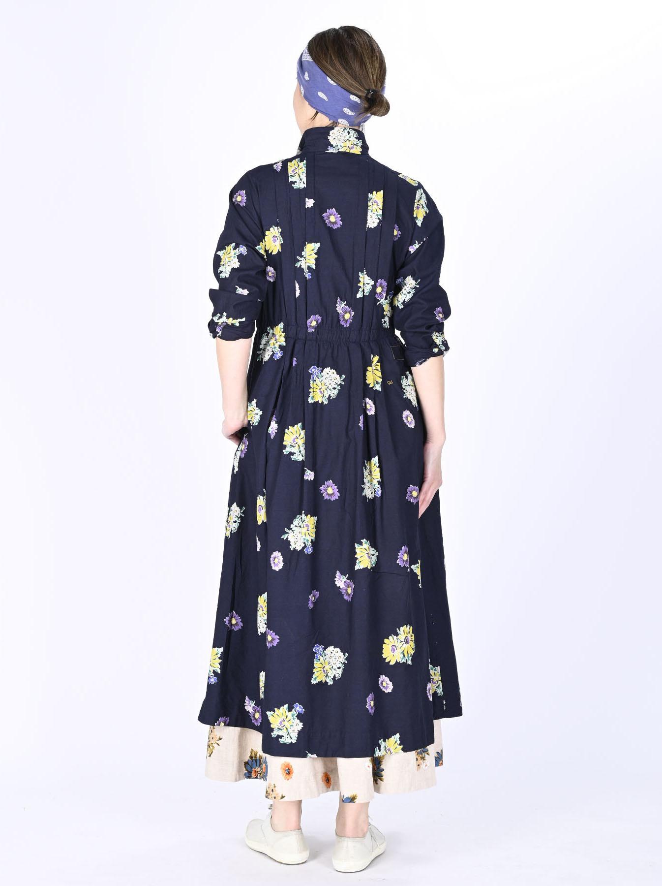 Indigo Margaret Print Dress-4