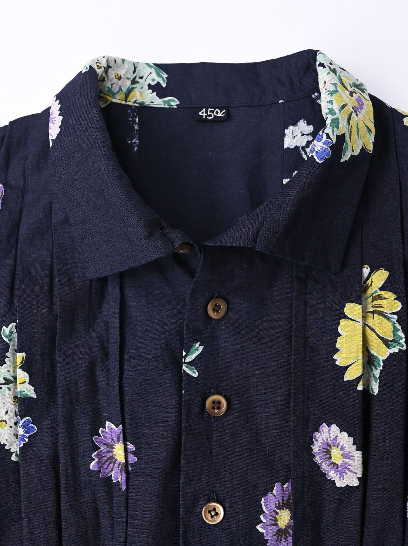 Indigo Margaret Print Dress-6