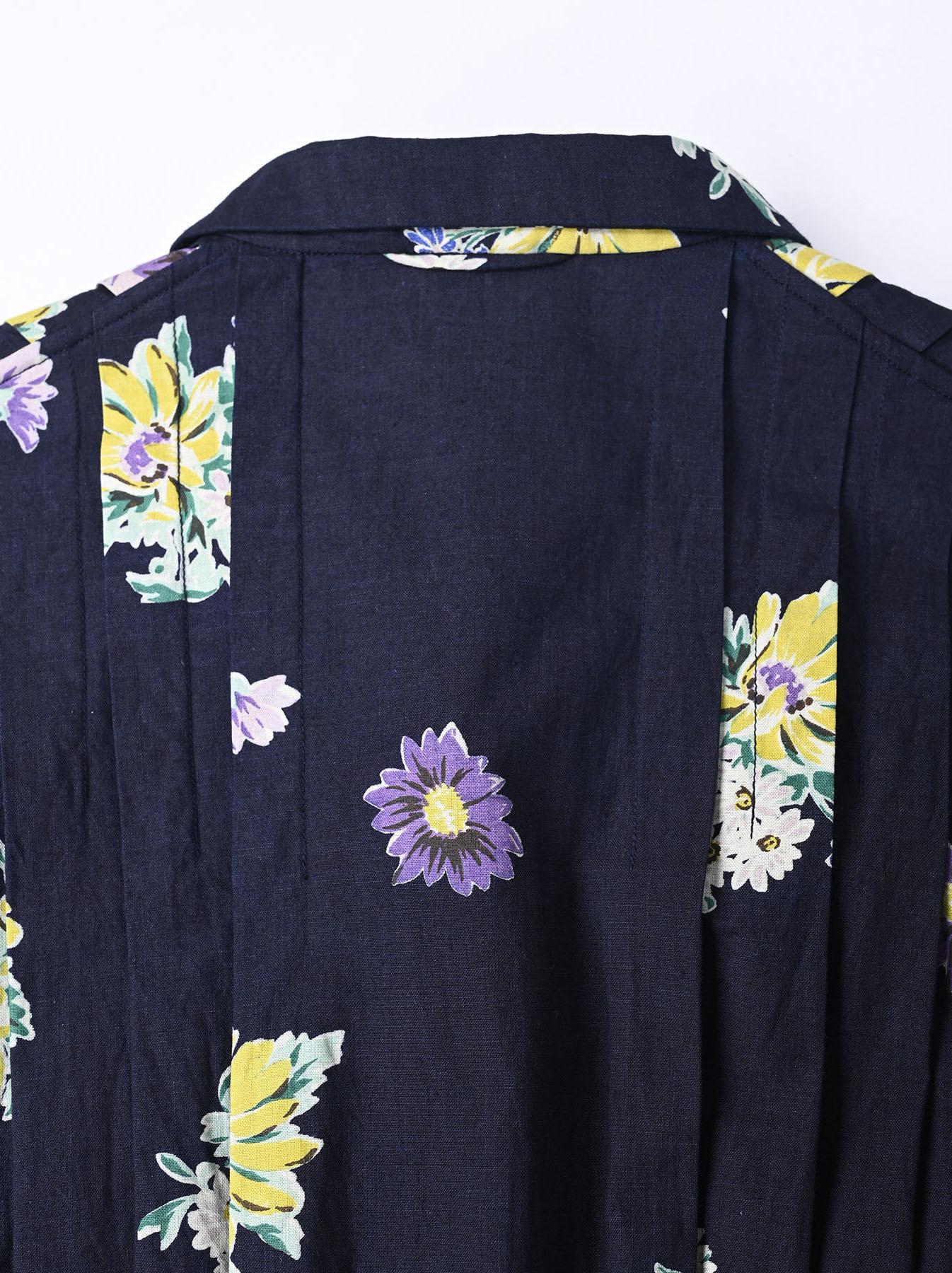 Indigo Margaret Print Dress-7
