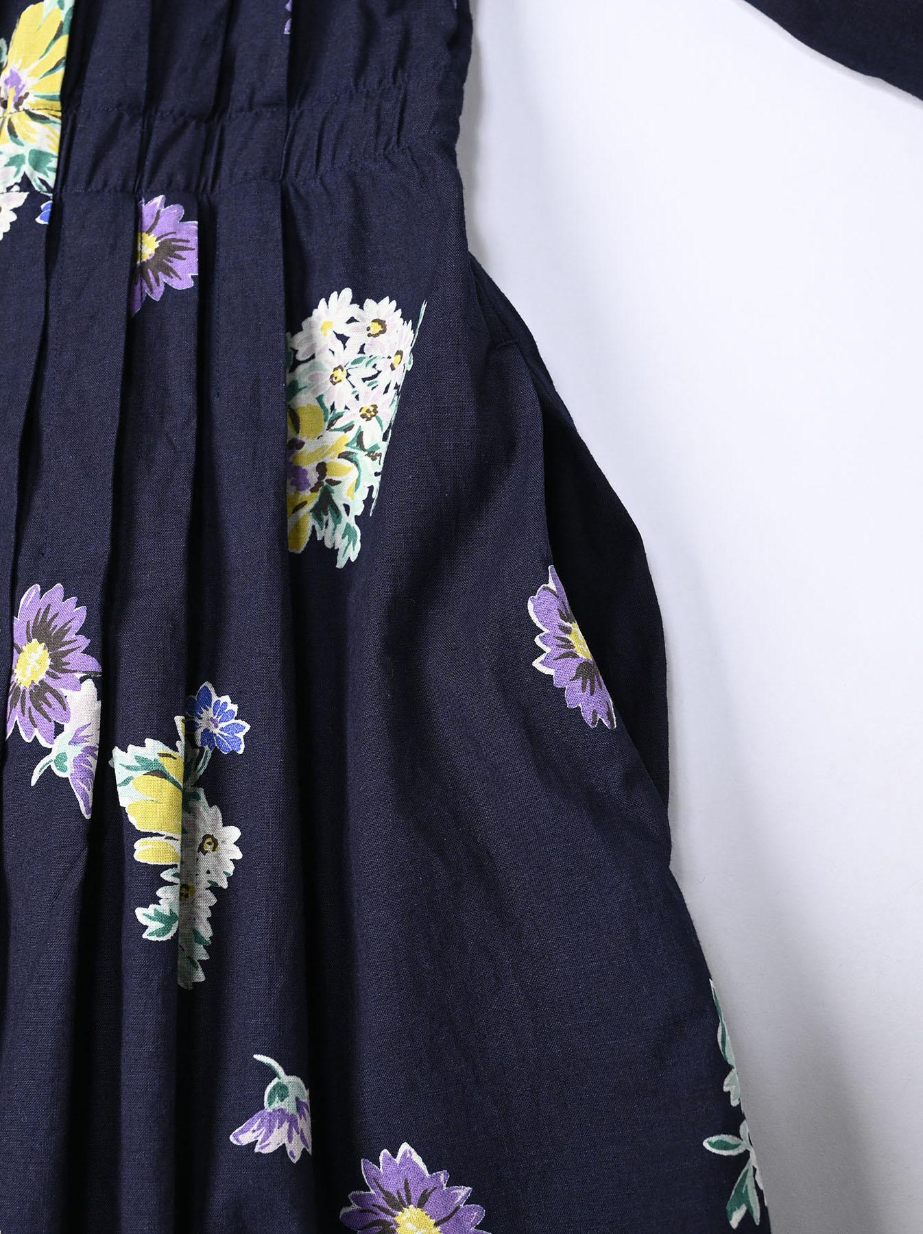 Indigo Margaret Print Dress-10