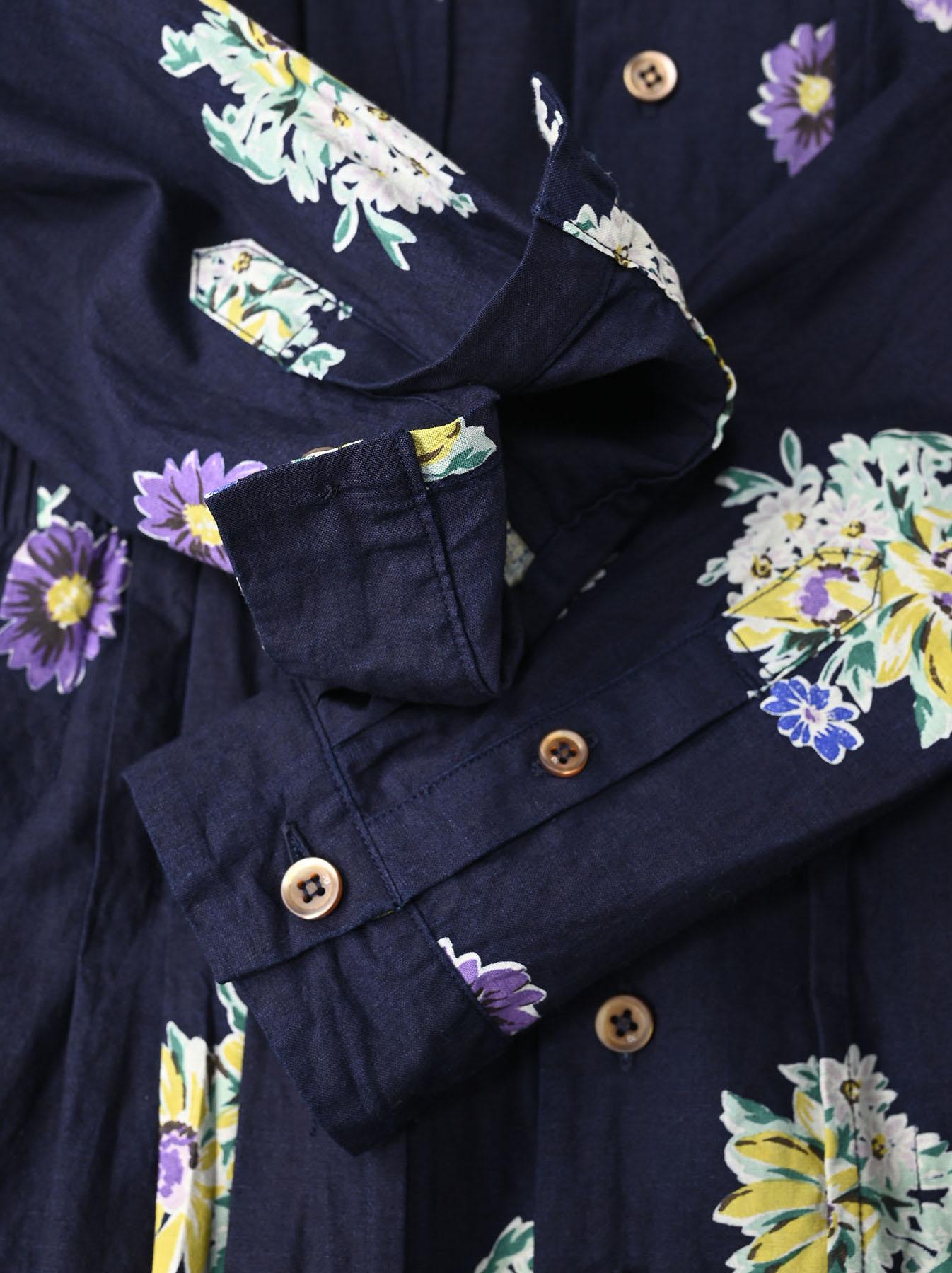 Indigo Margaret Print Dress-11