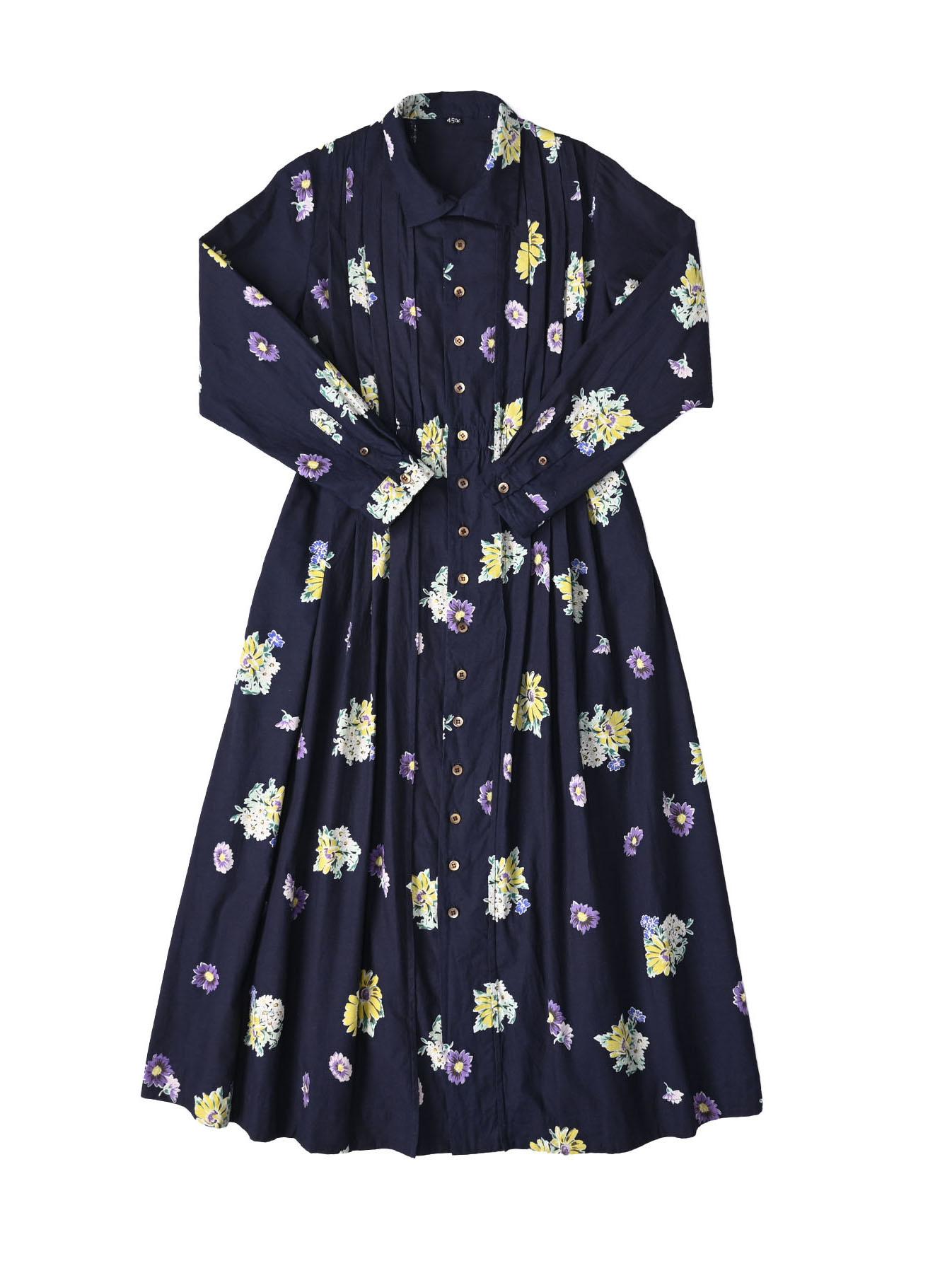 Indigo Margaret Print Dress-1