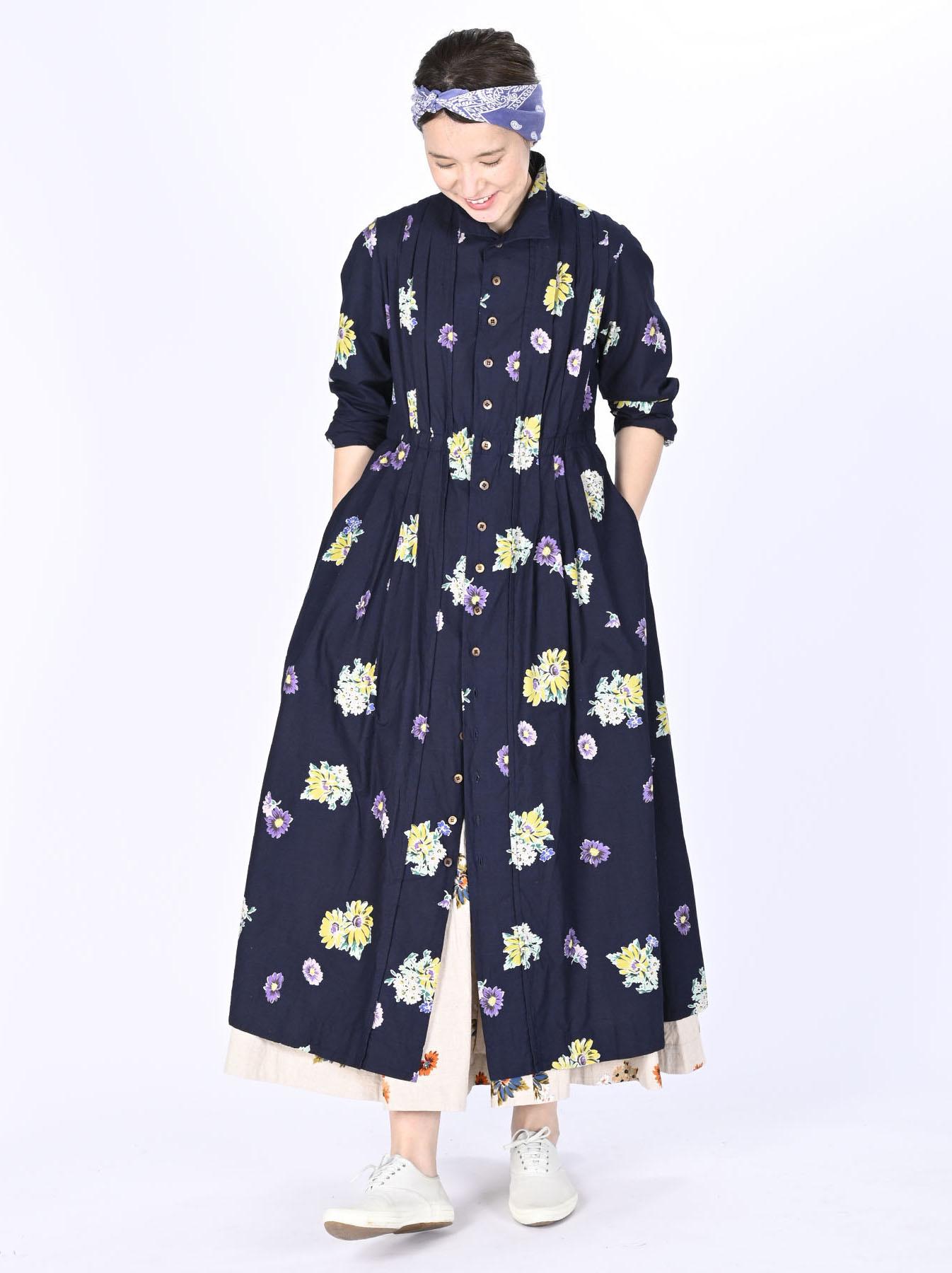 Indigo Margaret Print Dress-2