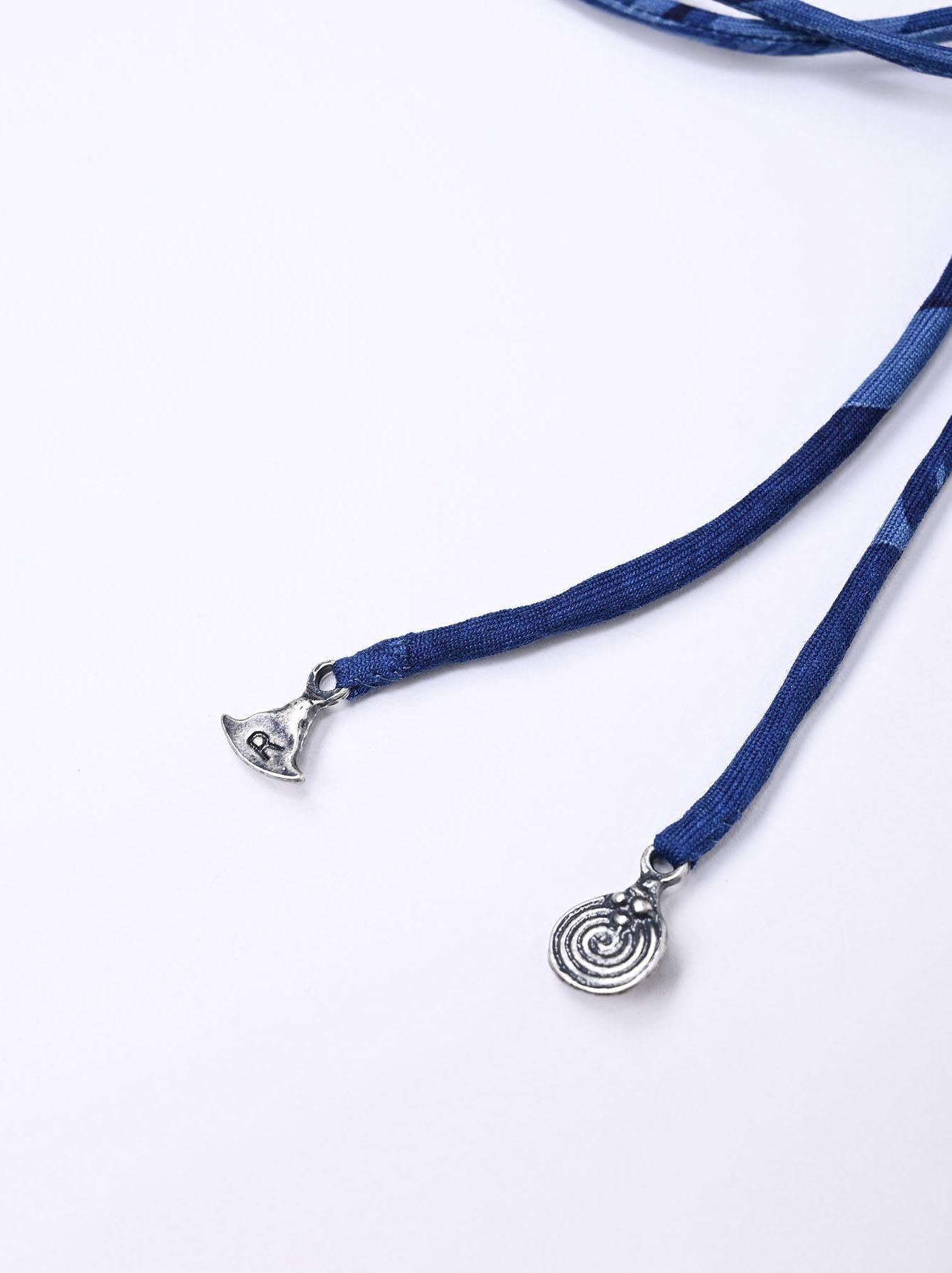 Indigo Silk Twill Ribbon (0121)-3