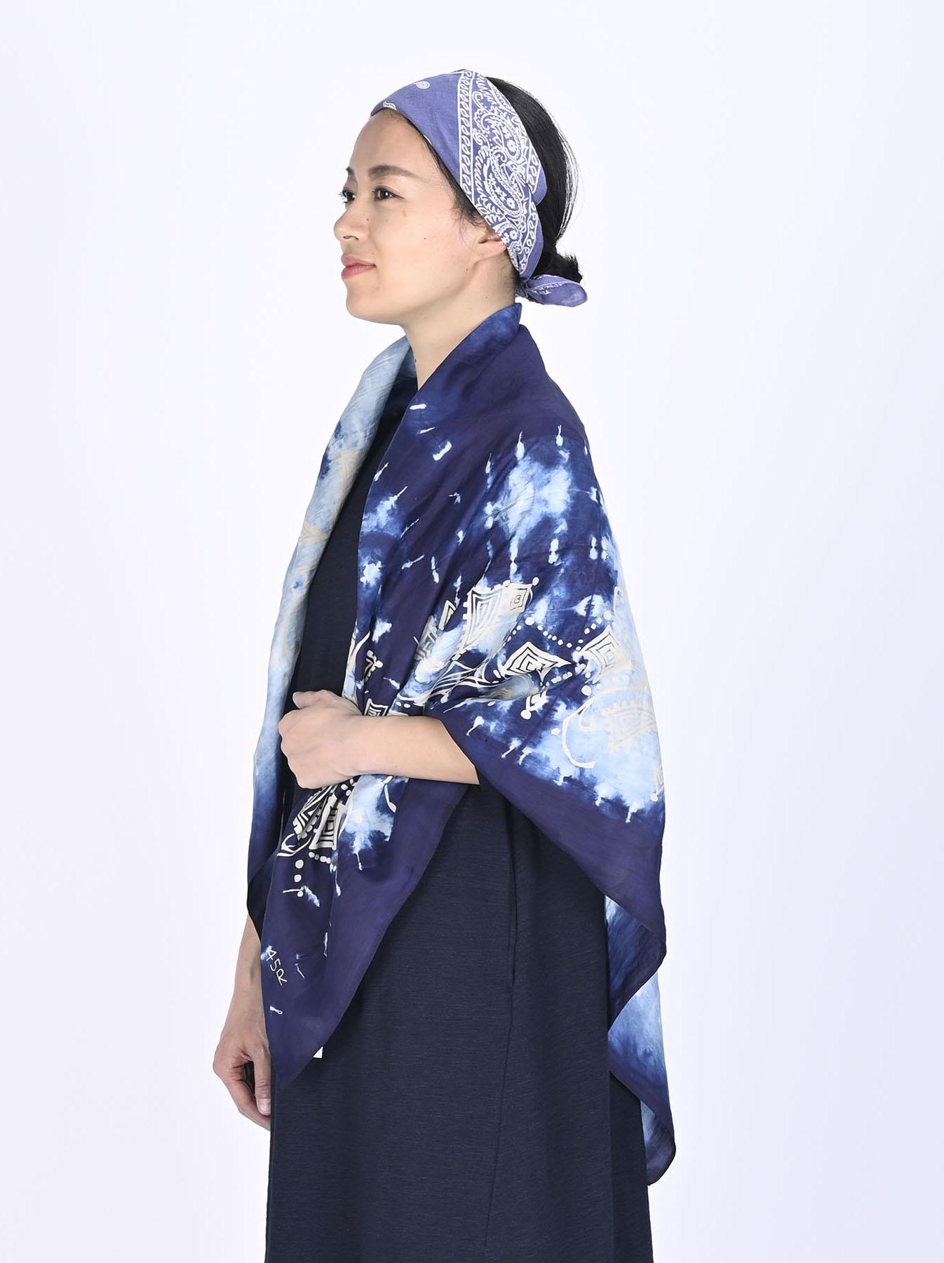 Indigo Silk Shibori Furoshikii-2