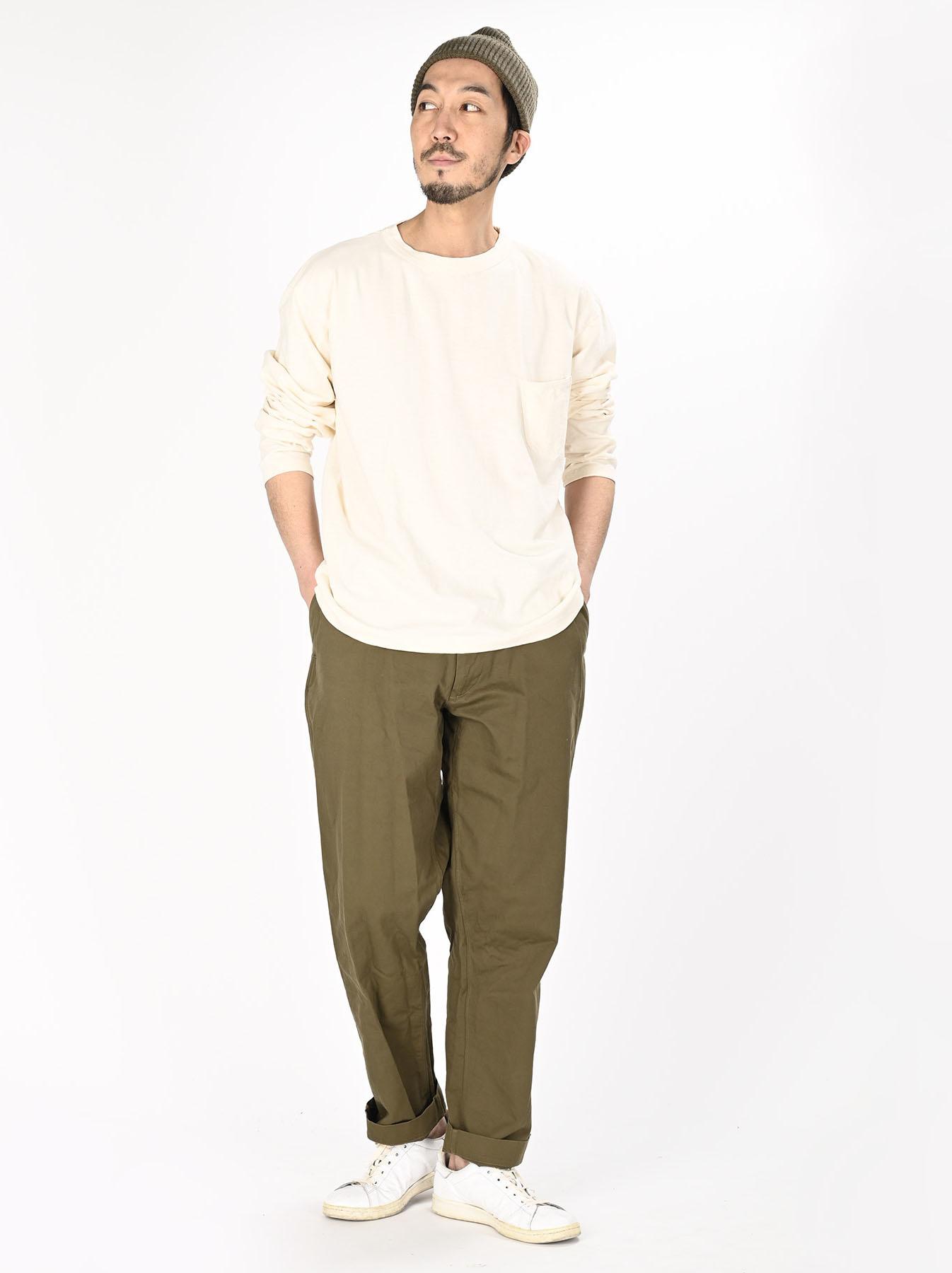 Zimbabwe Cotton 908 Ocean Long-sleeved T-shirt-2