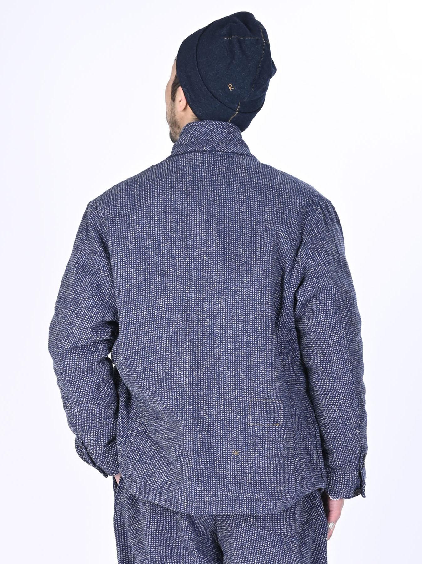 Homespun Indigo Cotton Tweed Asama Jacket-5
