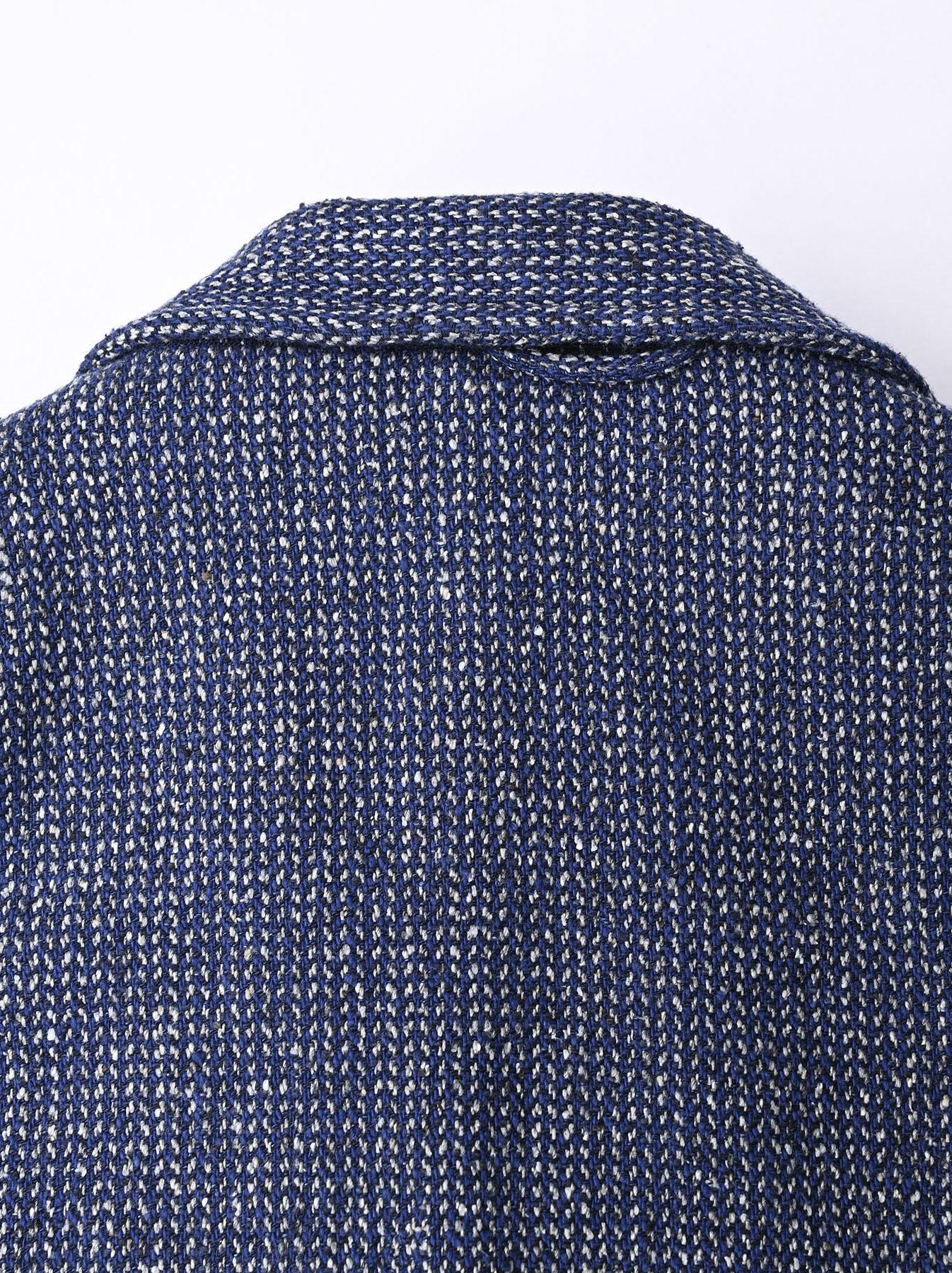 Homespun Indigo Cotton Tweed Asama Jacket-9