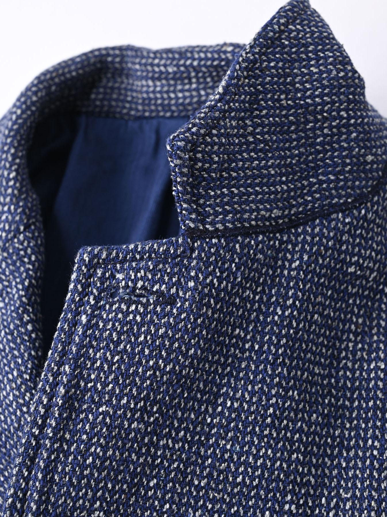Homespun Indigo Cotton Tweed Asama Jacket-8