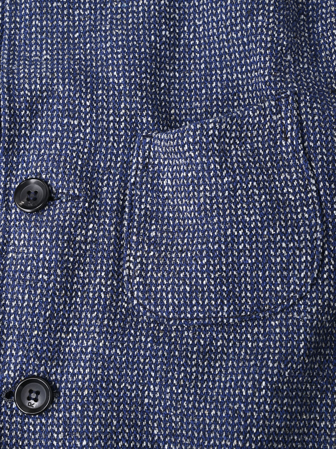 Homespun Indigo Cotton Tweed Asama Jacket-10