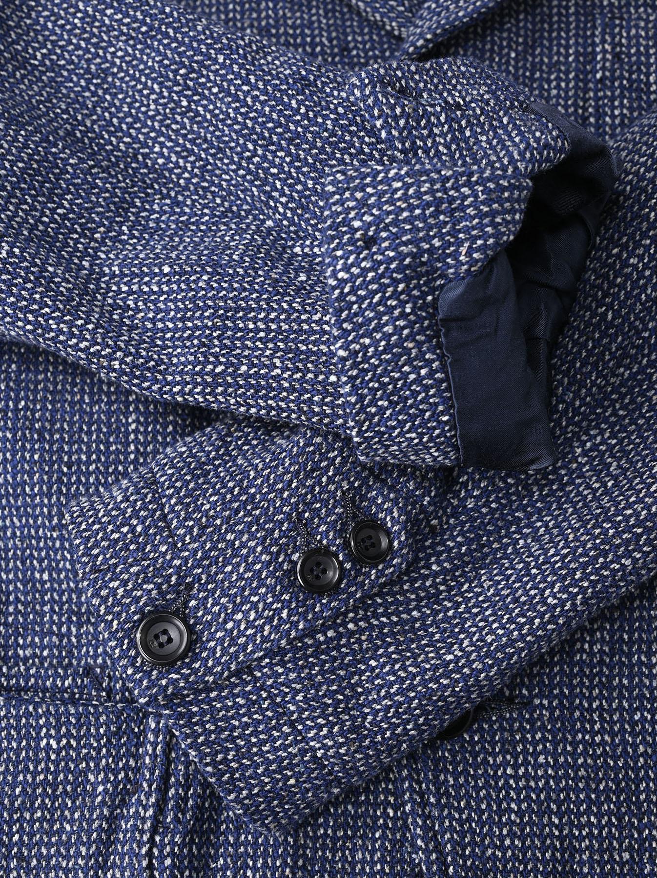 Homespun Indigo Cotton Tweed Asama Jacket-11