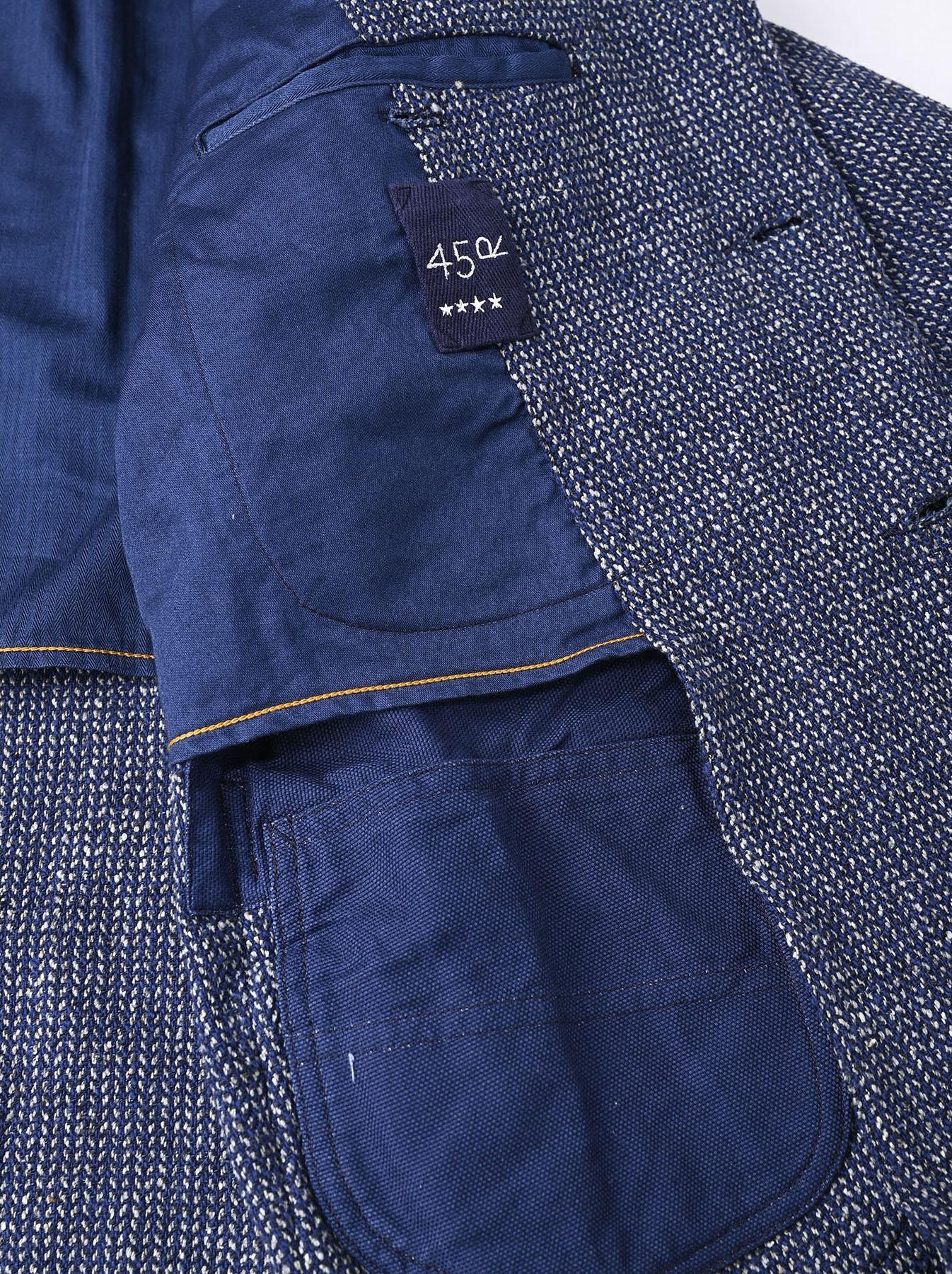 Homespun Indigo Cotton Tweed Asama Jacket-12