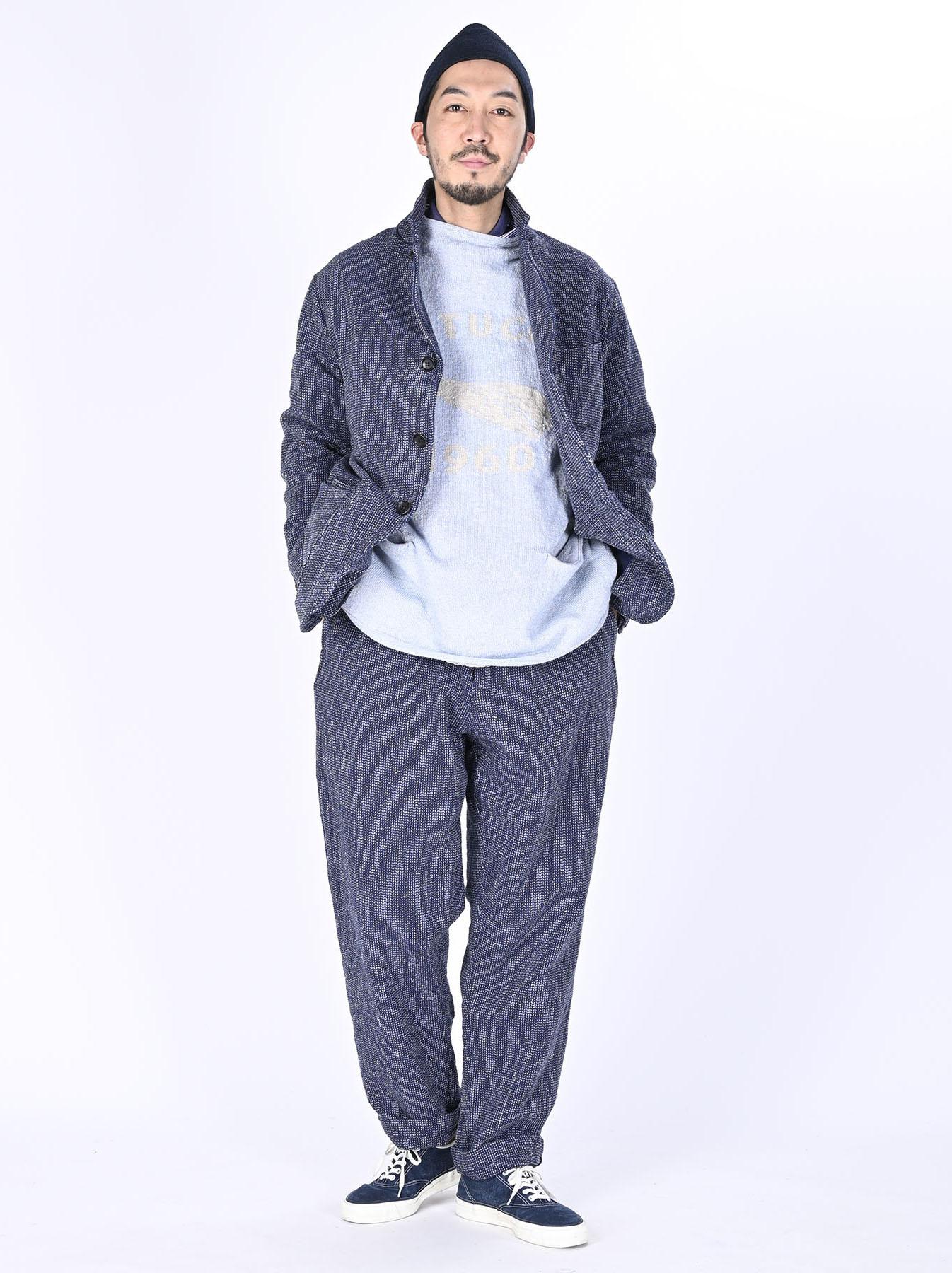 Homespun Indigo Cotton Tweed Asama Jacket-2