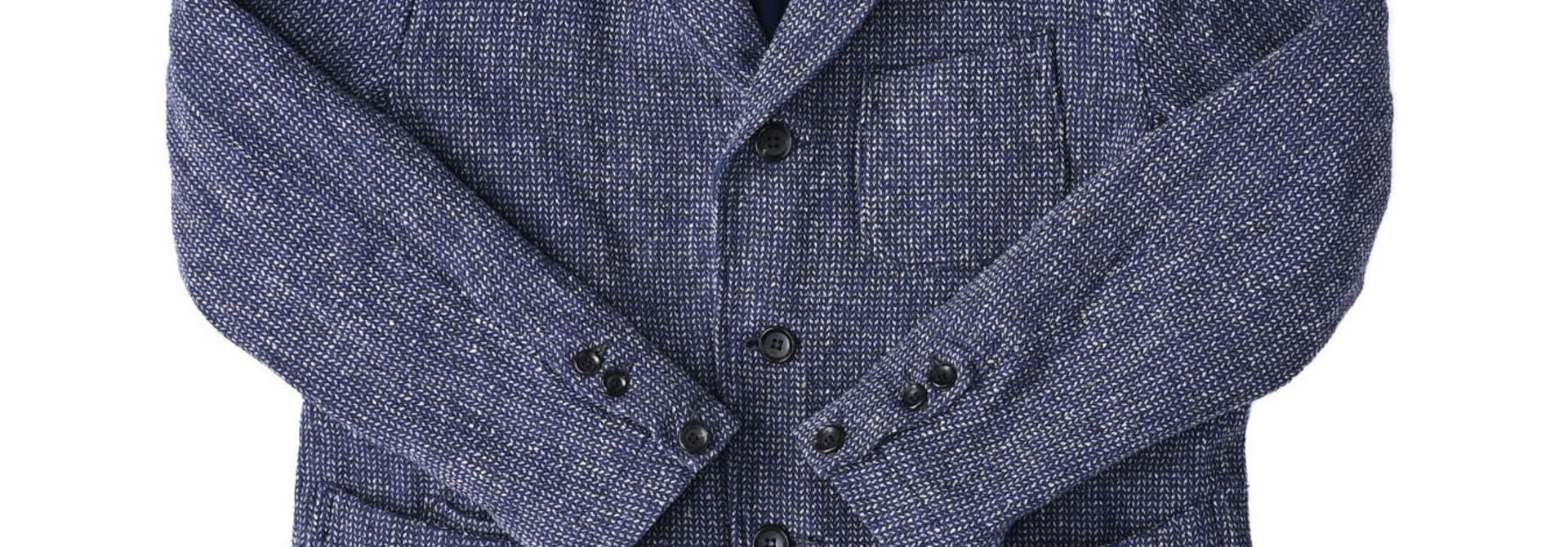 Homespun Indigo Cotton Tweed Asama Jacket