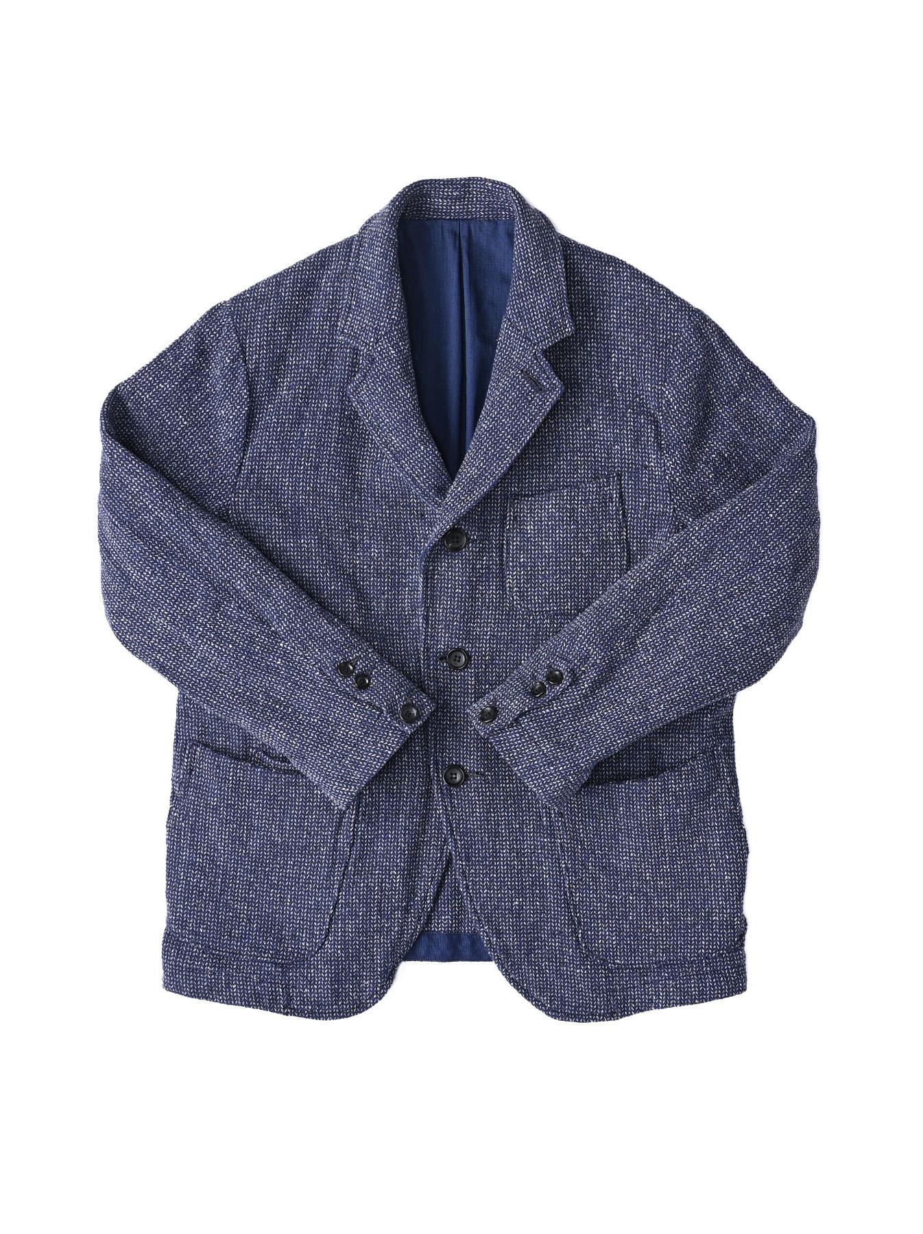 Homespun Indigo Cotton Tweed Asama Jacket-1