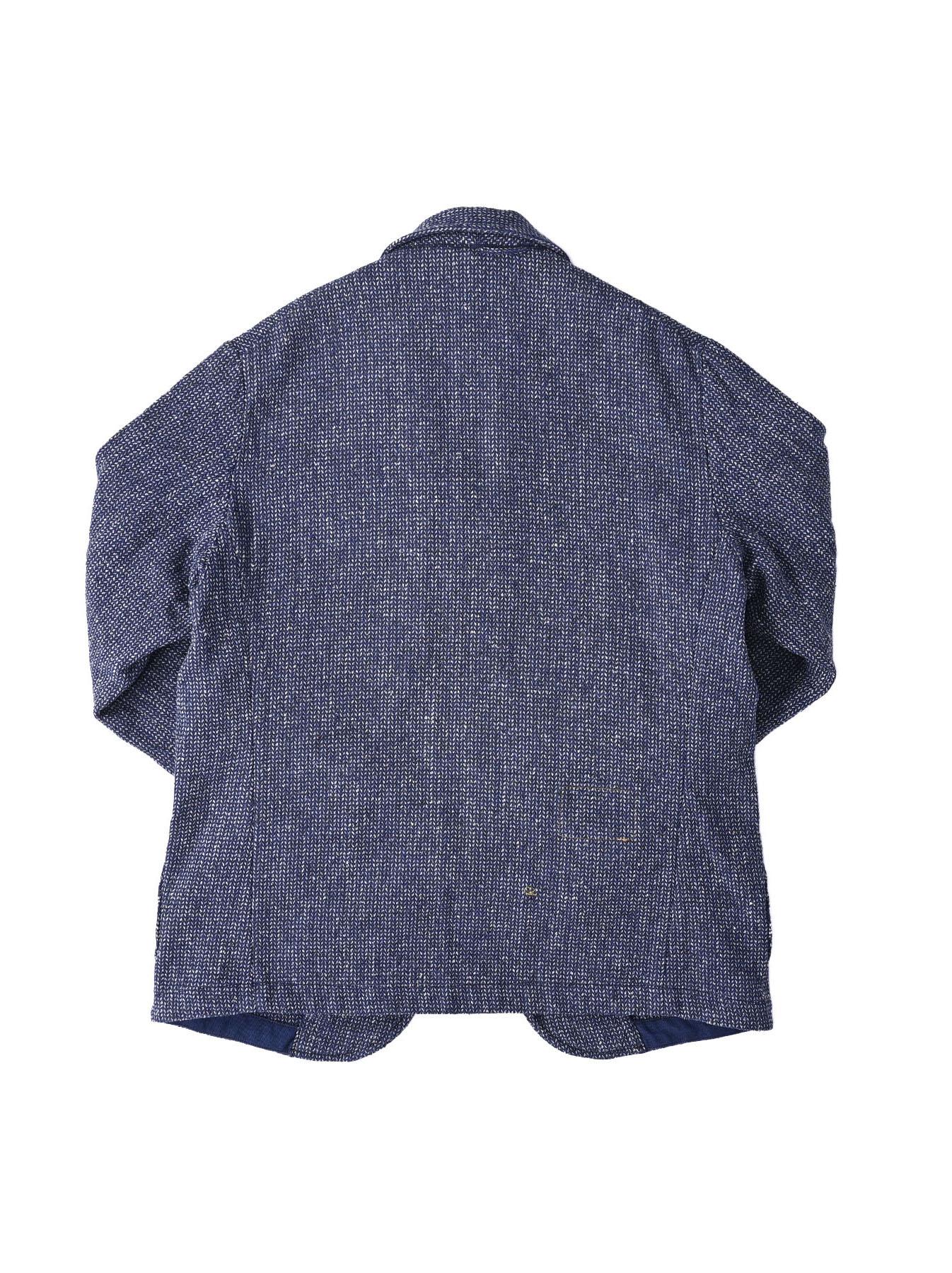 Homespun Indigo Cotton Tweed Asama Jacket-6