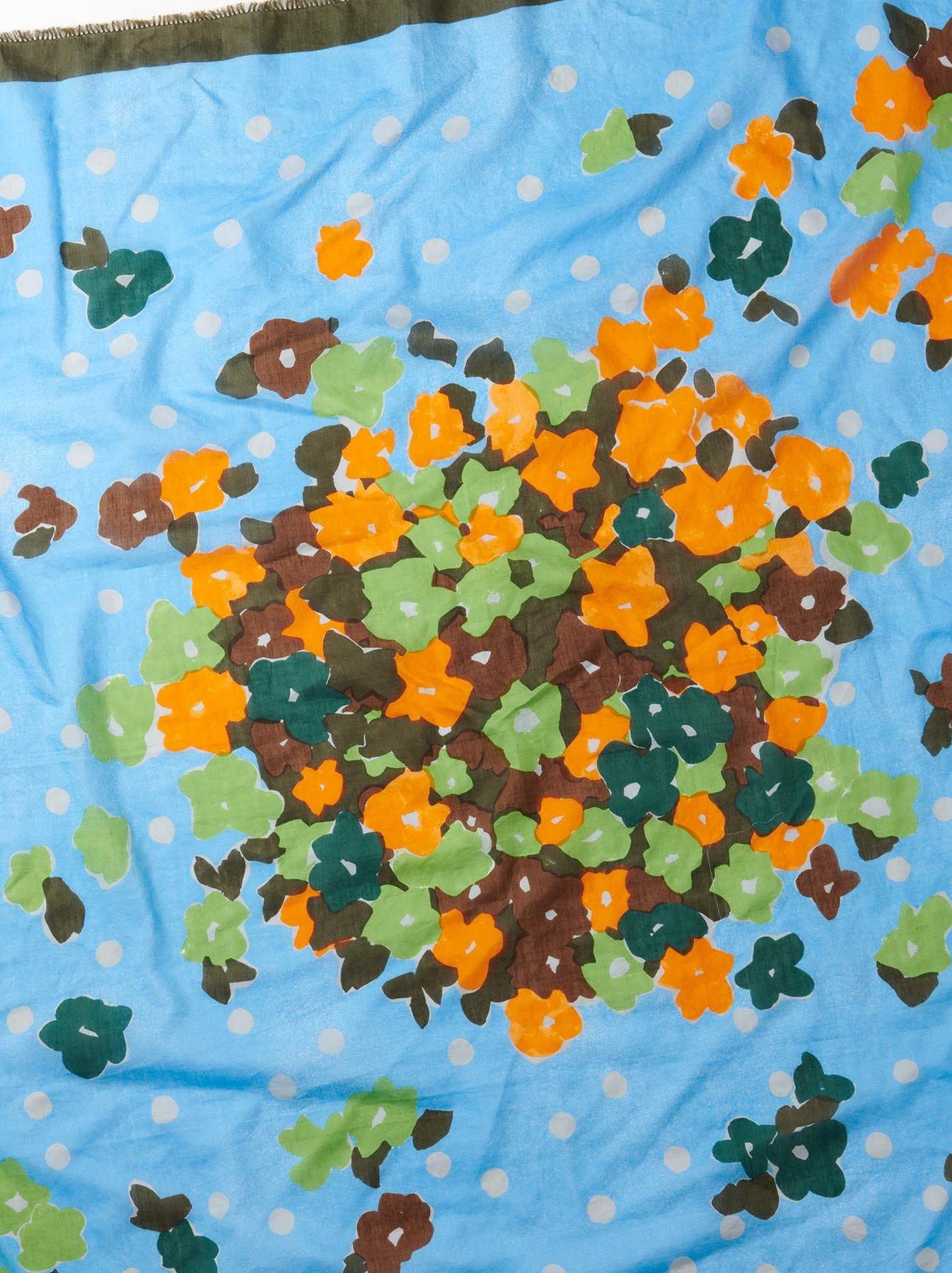 WH Khadi Silk Dots Flower Furoshikii-4