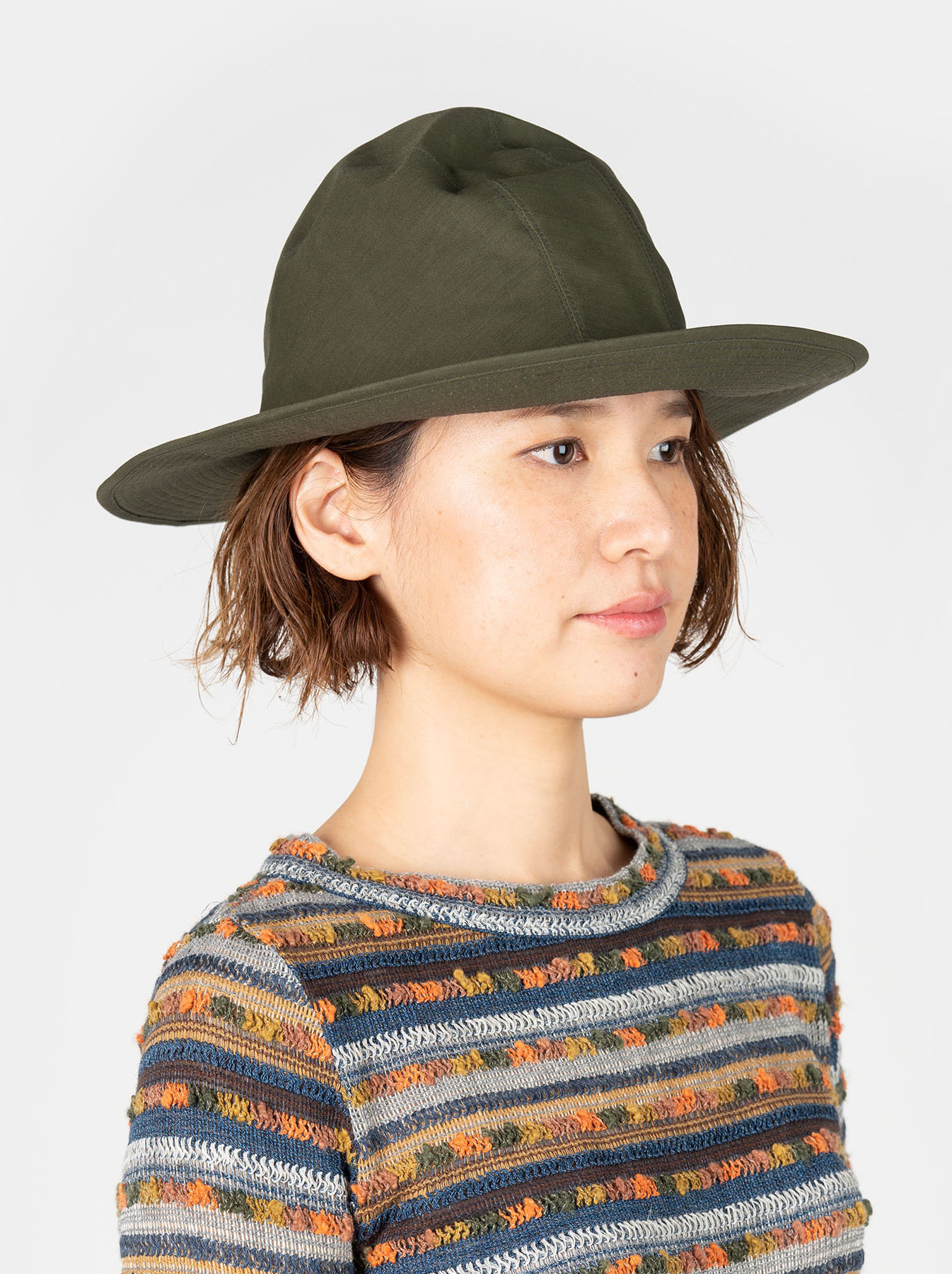 Coated Weather Cloth Hat-2
