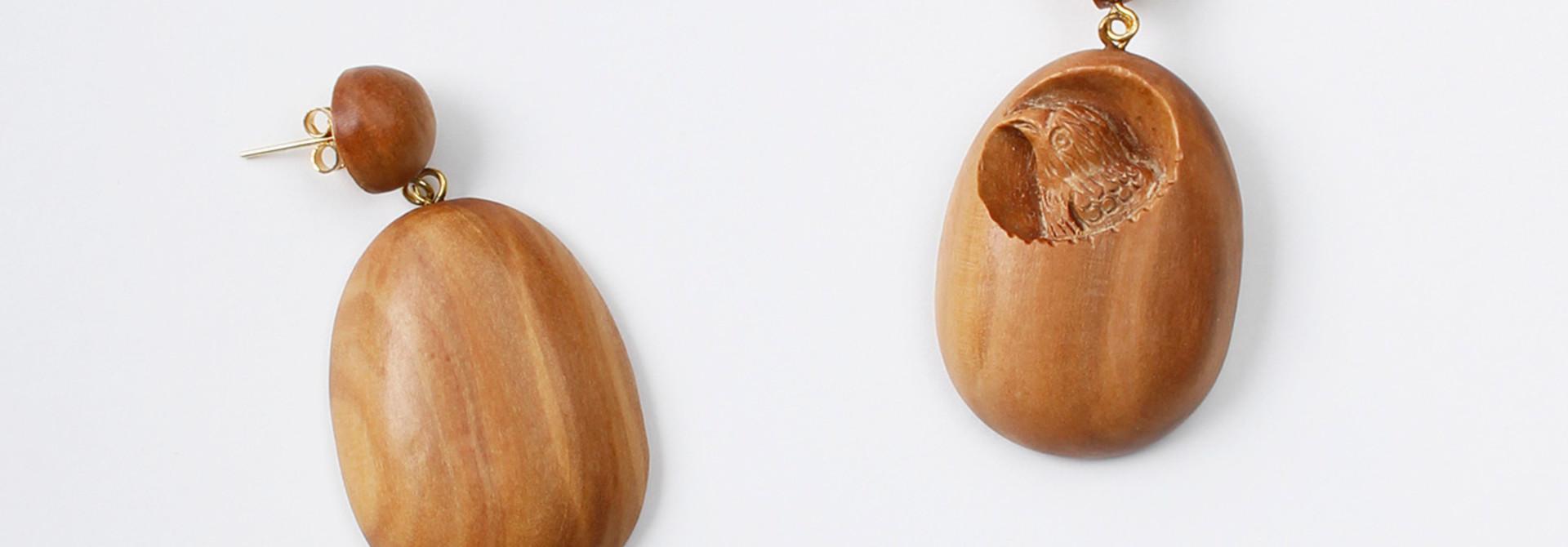 WH Sandalwood Oval Earrings