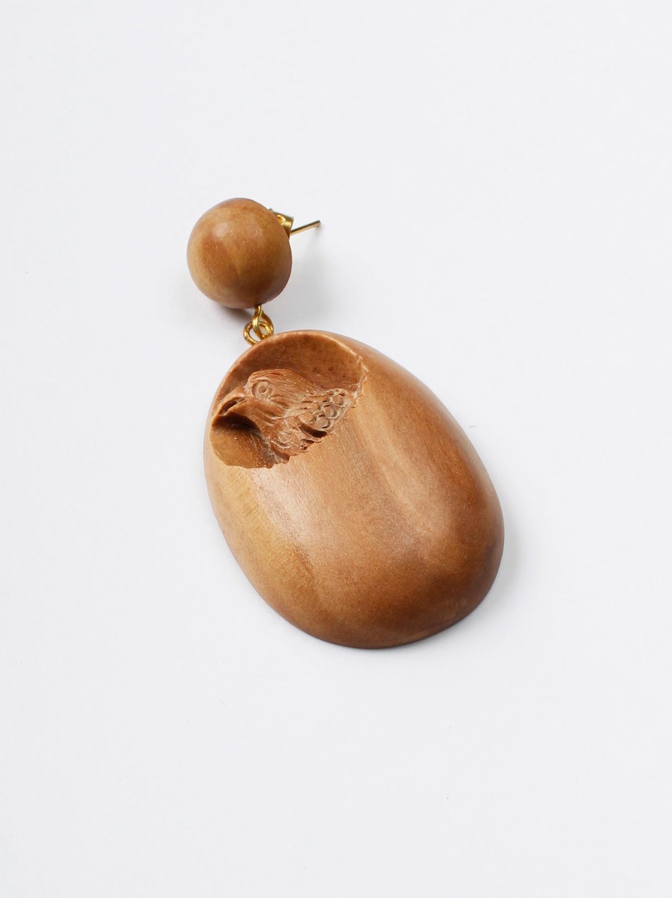 WH Sandalwood Oval Earrings-2