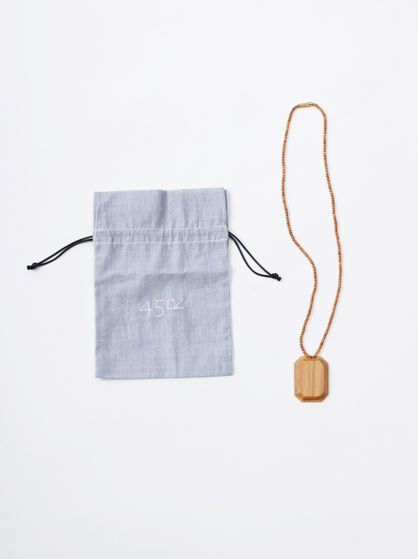 WH Sandalwood Octagon Necklace-3