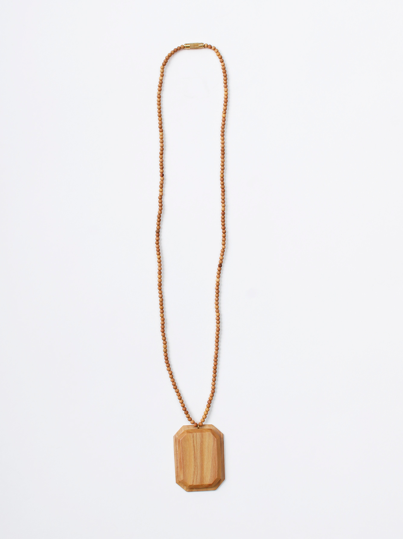 WH Sandalwood Octagon Necklace-4