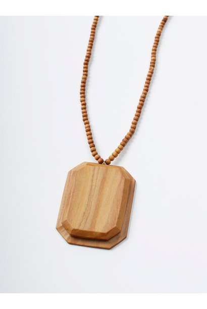 WH Sandalwood Octagon Necklace