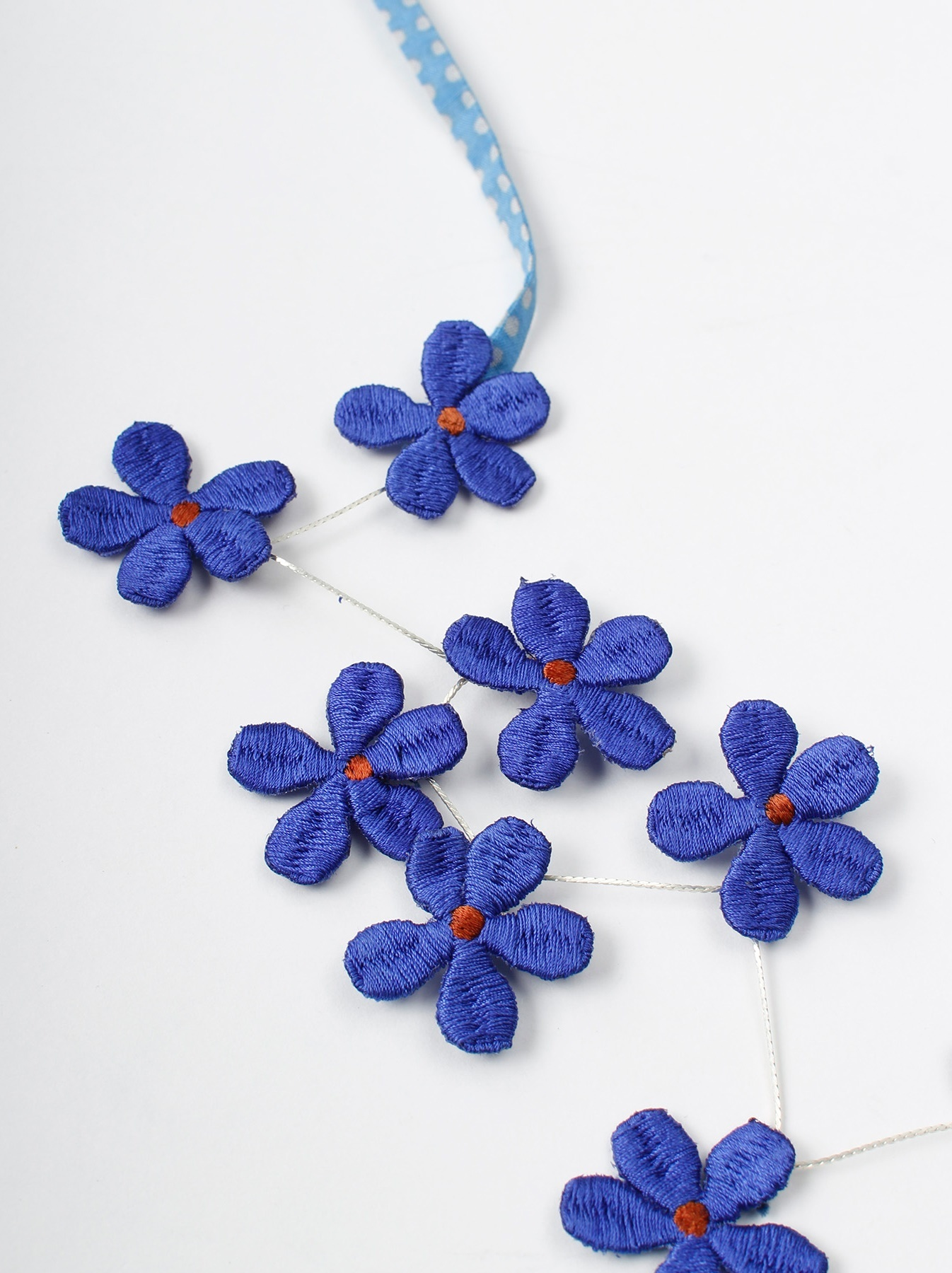 WH Silk Flower Embroidery Necklace-7