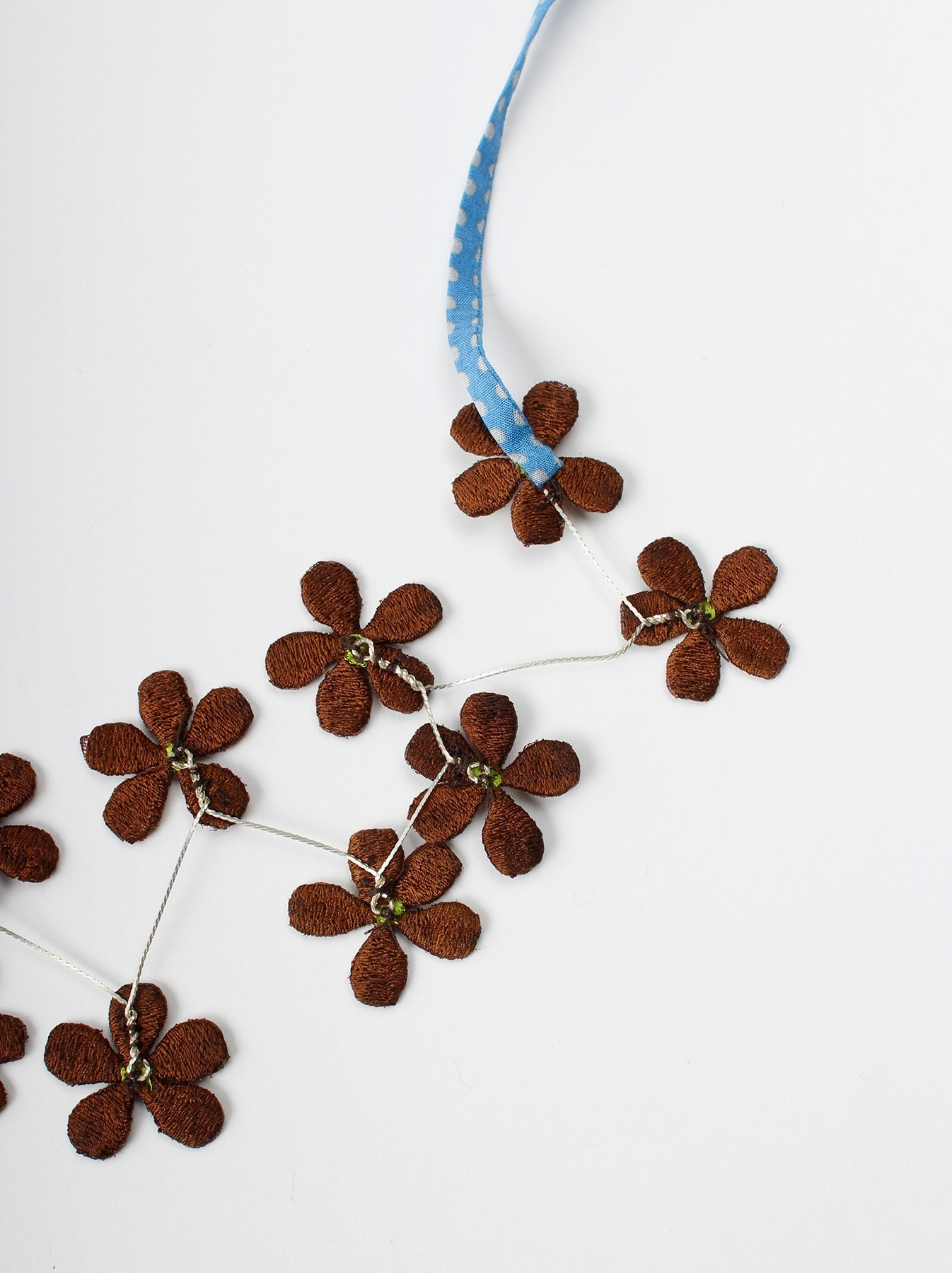 WH Silk Flower Embroidery Necklace-8