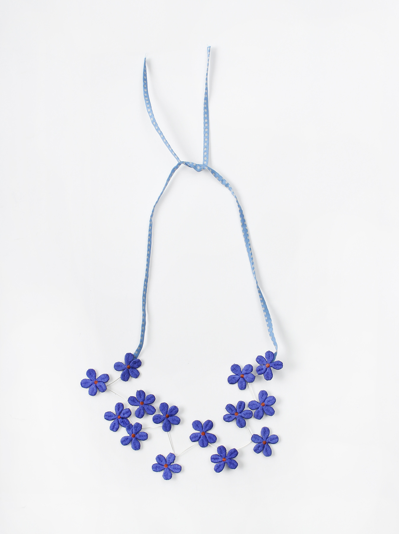 WH Silk Flower Embroidery Necklace-6