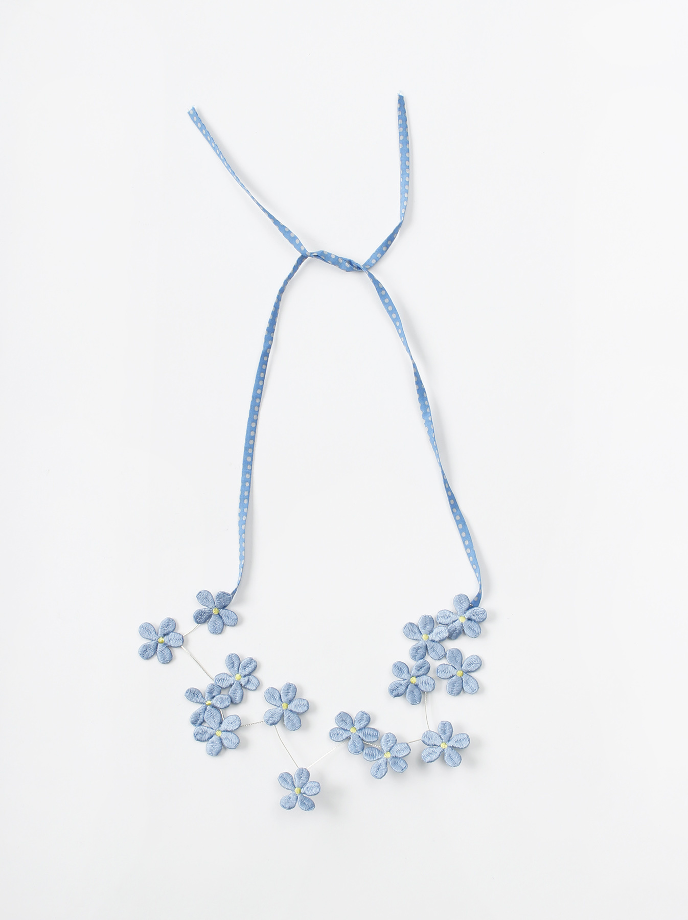 WH Silk Flower Embroidery Necklace-5