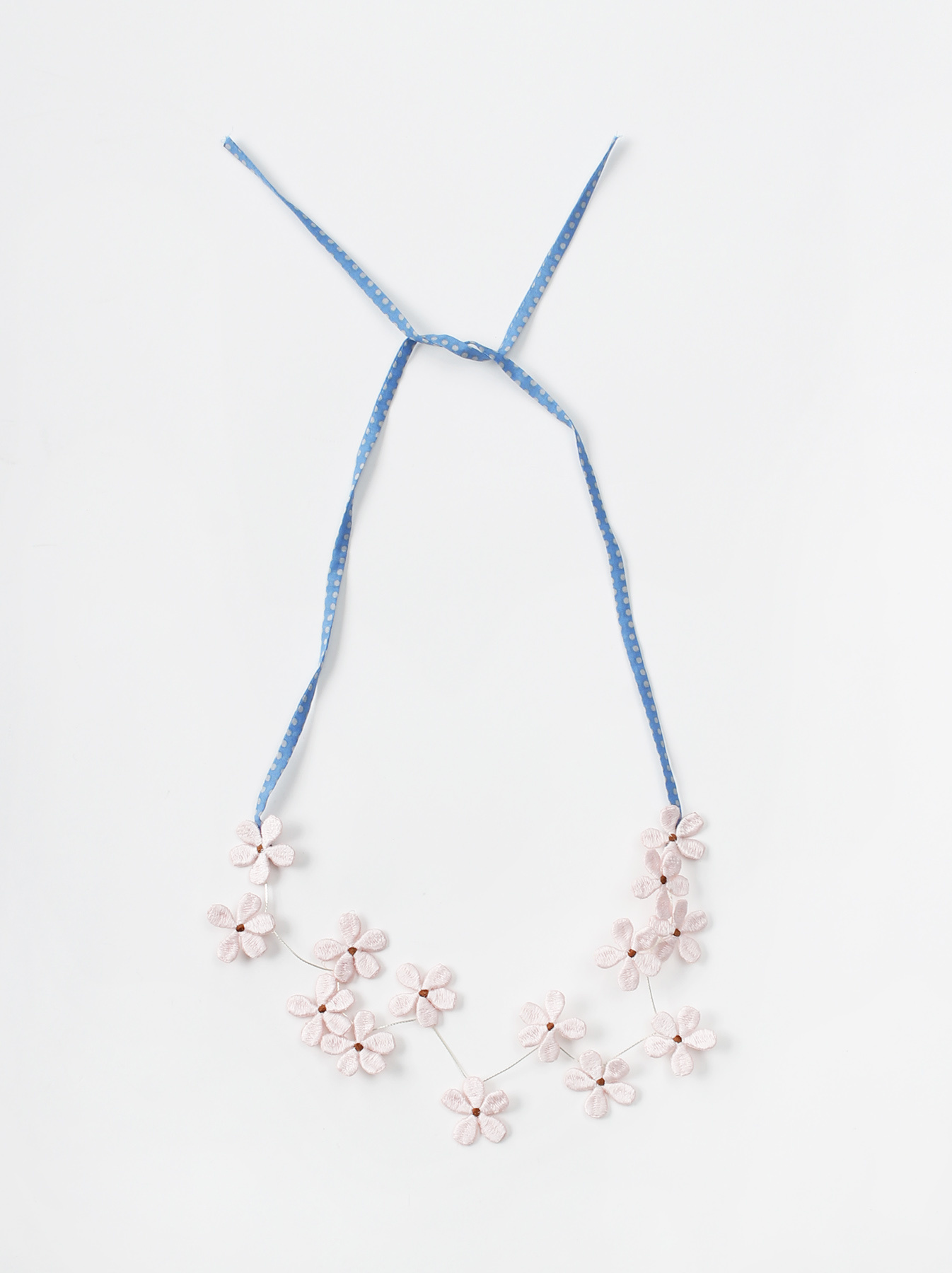 WH Silk Flower Embroidery Necklace-10