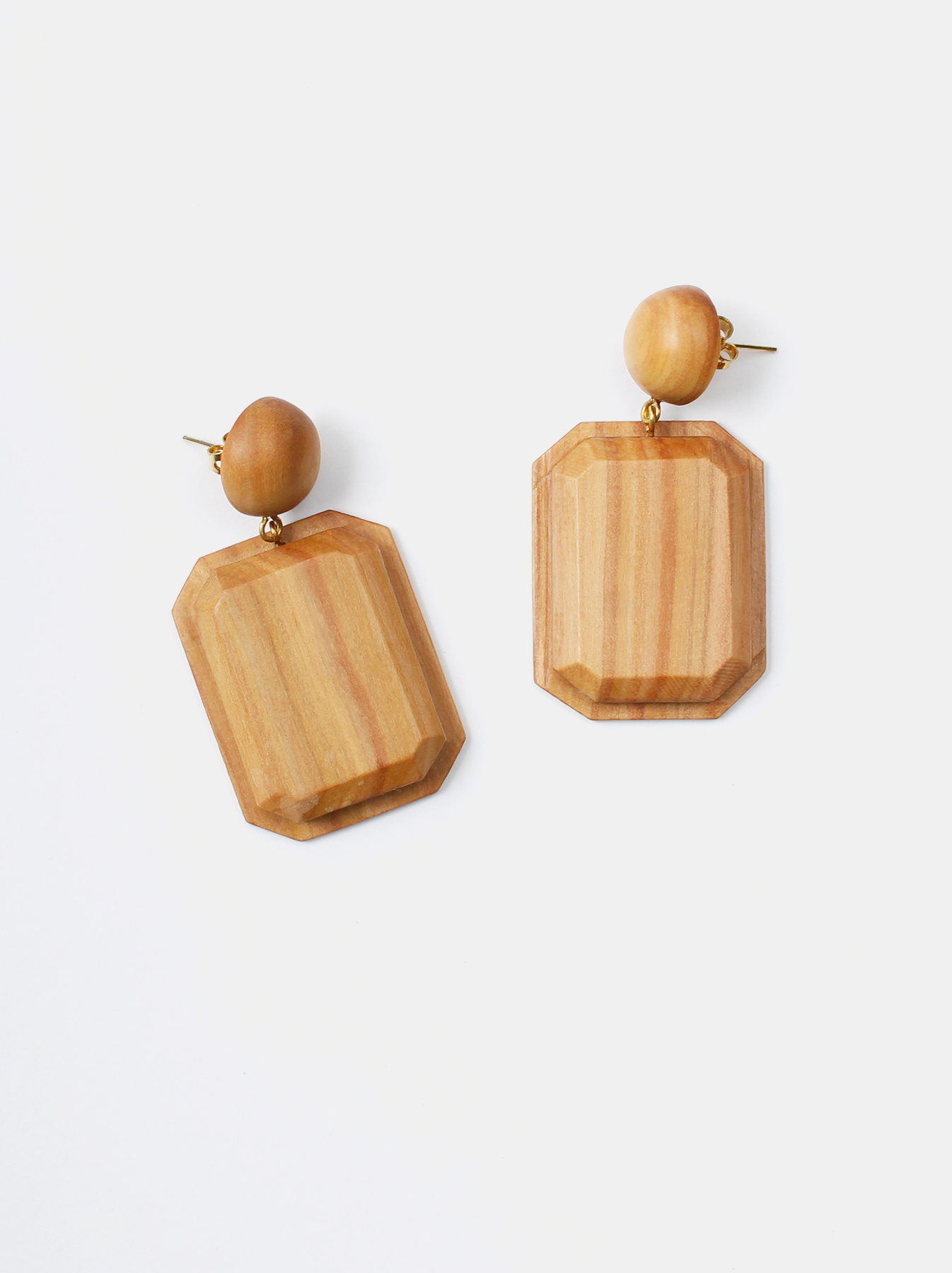 WH Sandalwood Octagon Earrings-1