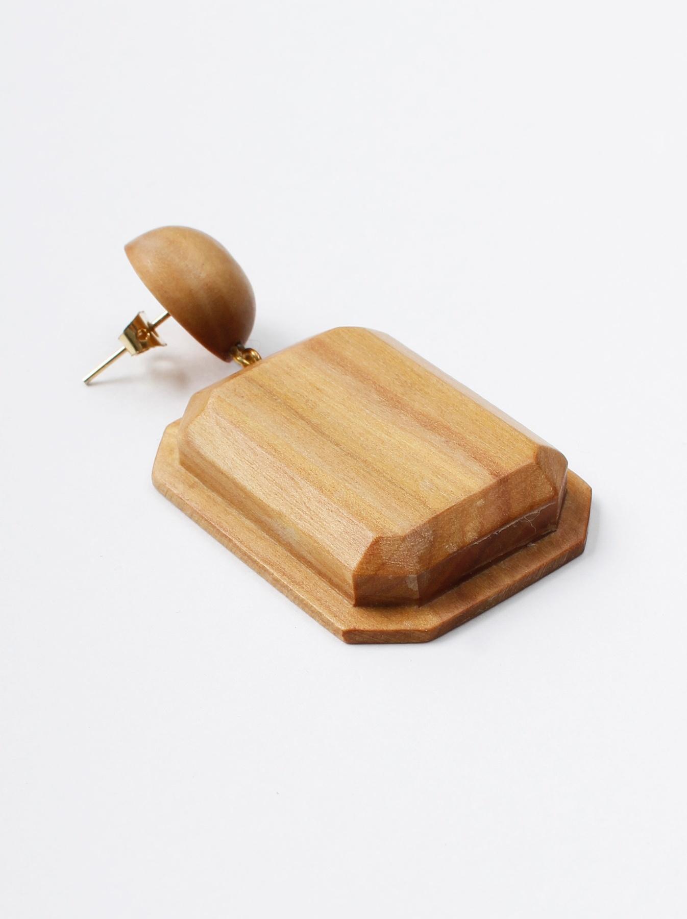 WH Sandalwood Octagon Earrings-2