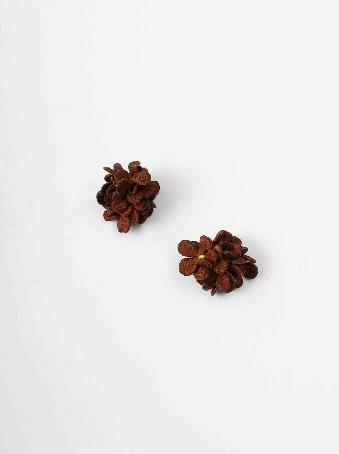 WH Silk Flower Bouquet Earrings-4