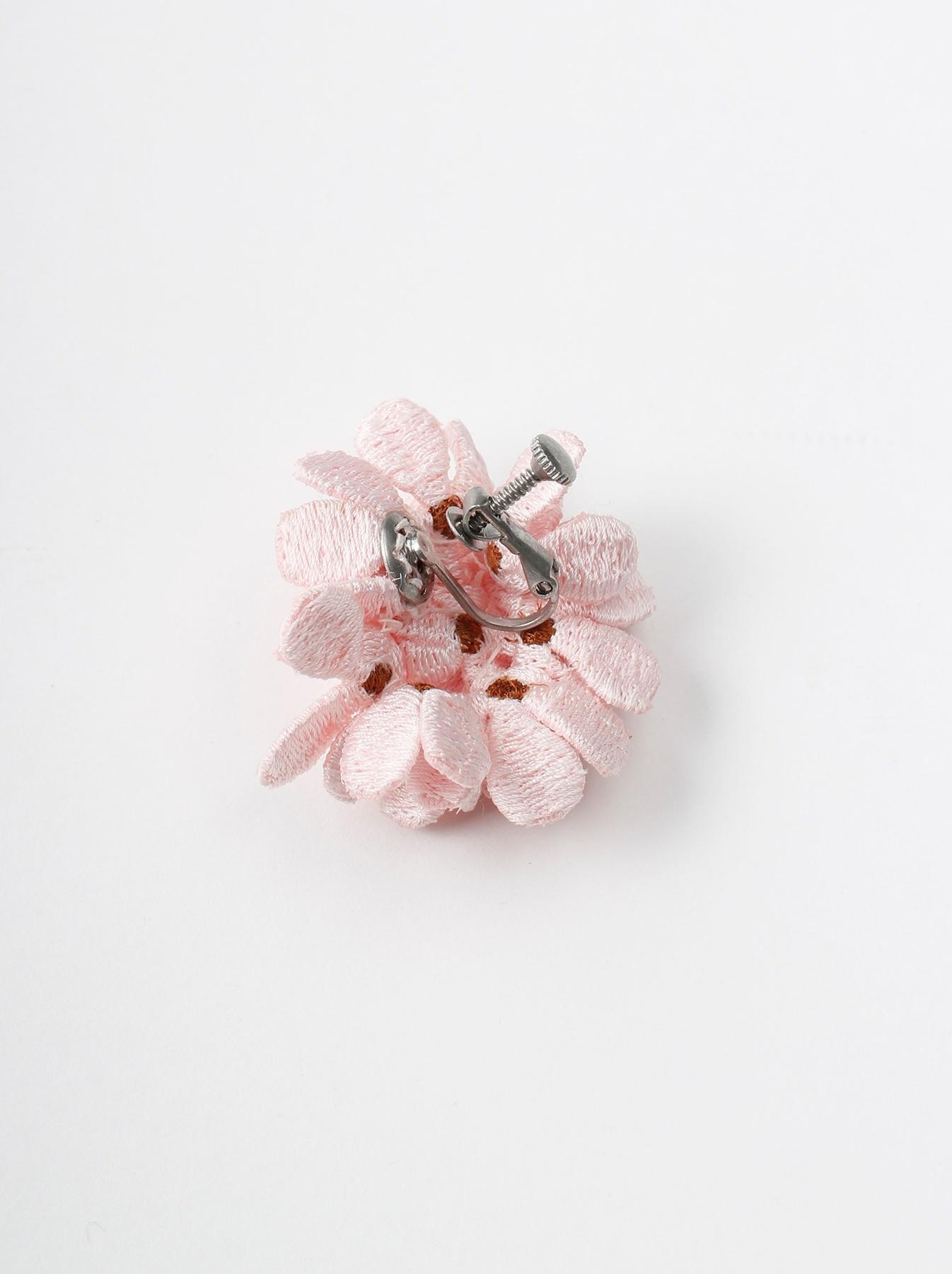 WH Silk Flower Bouquet Earrings-6