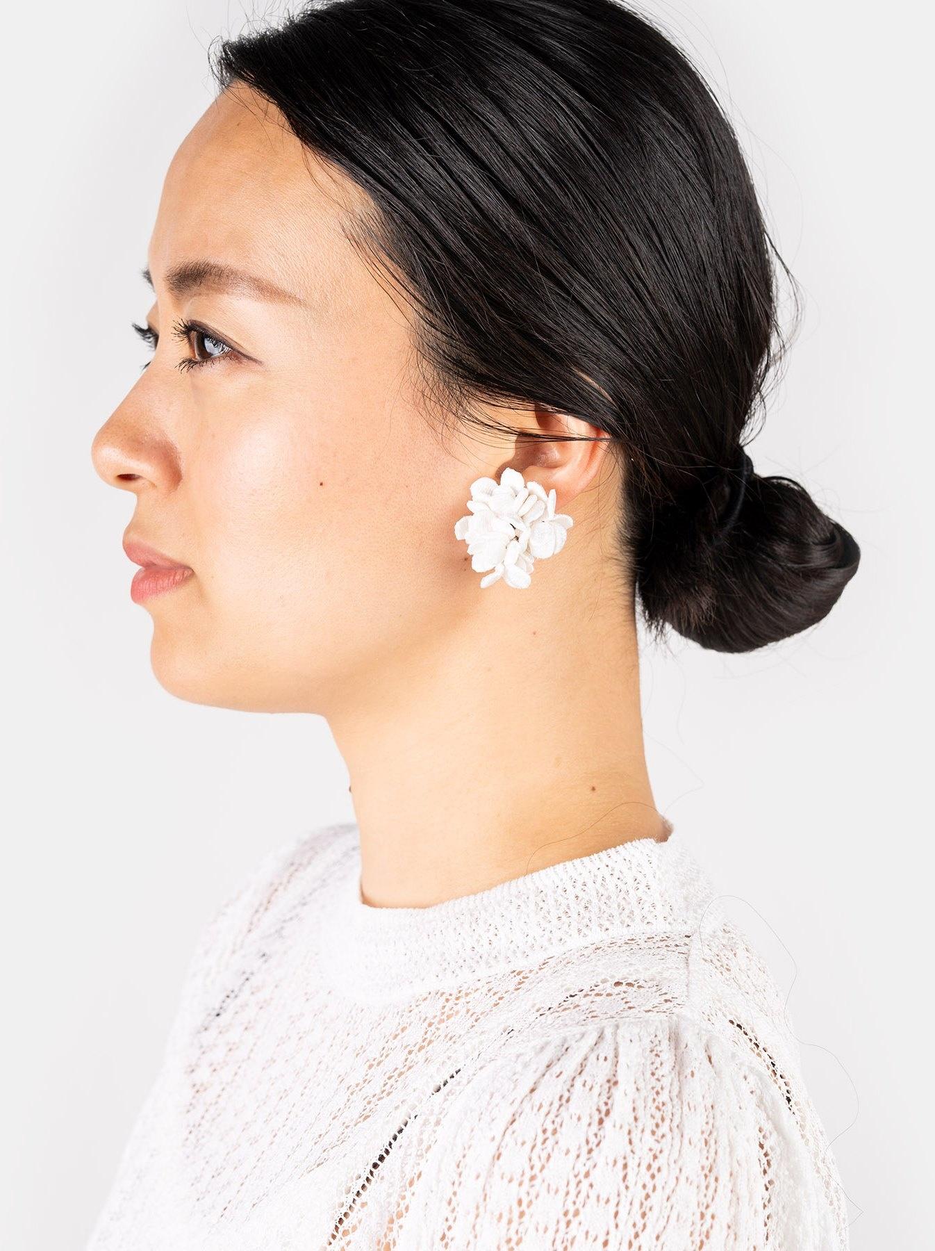 WH Silk Flower Bouquet Earrings-2