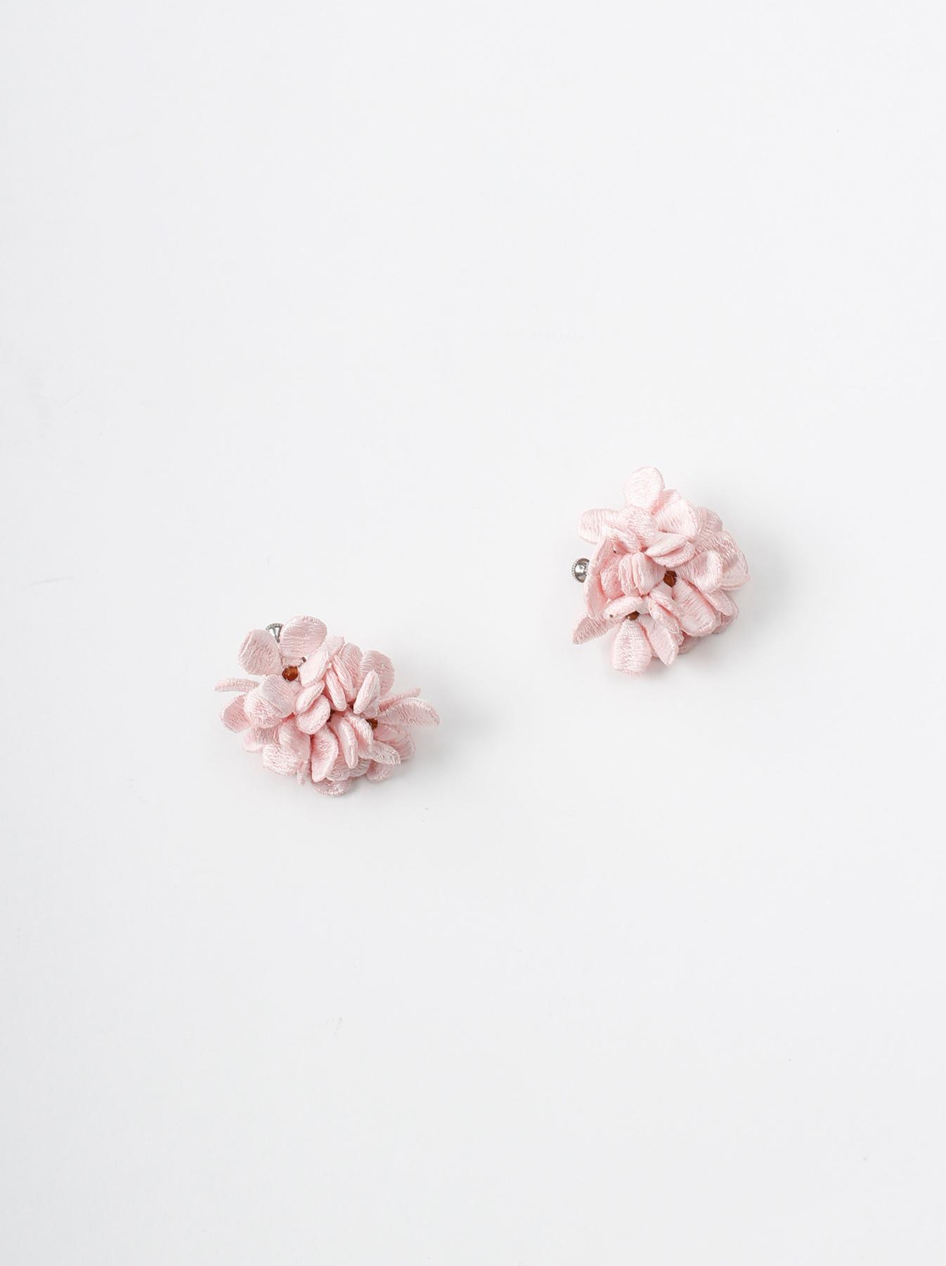 WH Silk Flower Bouquet Earrings-3