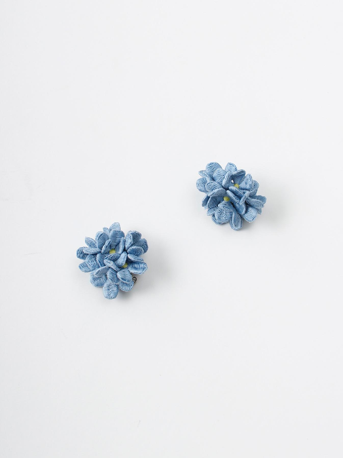 WH Silk Flower Bouquet Earrings-1