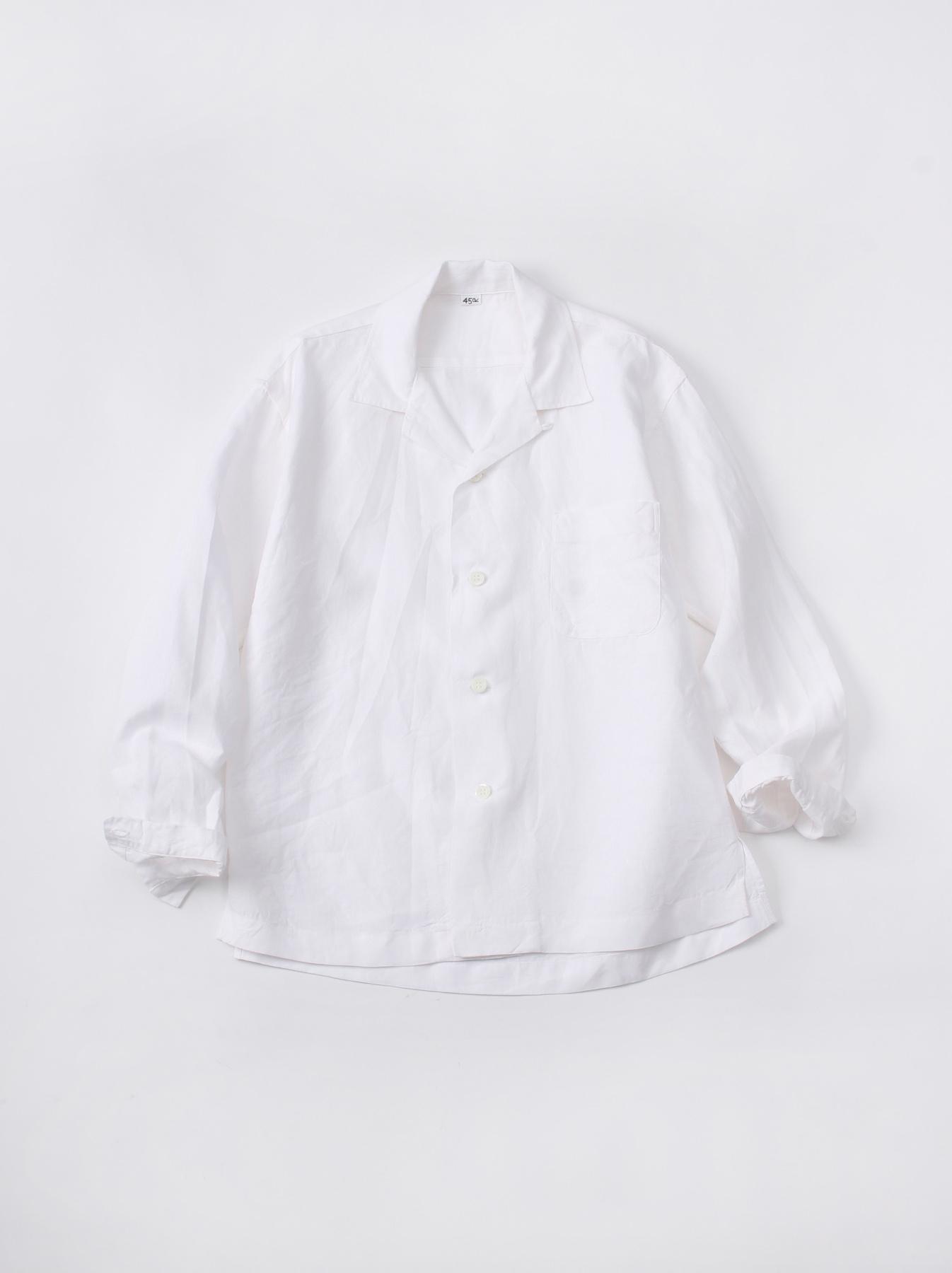 WH Piece-dyed Linen 908 Safari Shirt-2
