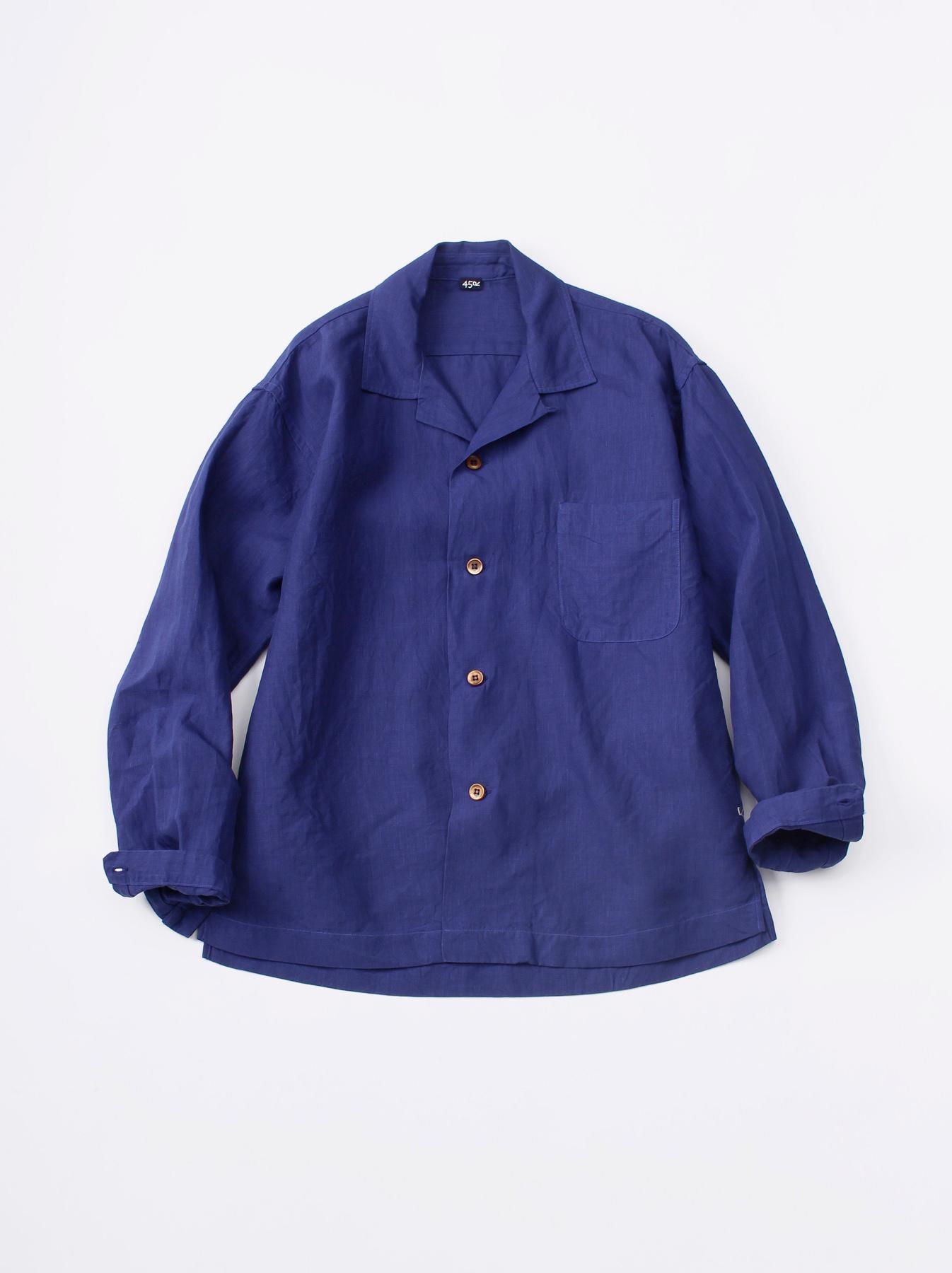 WH Piece-dyed Linen 908 Safari Shirt-1