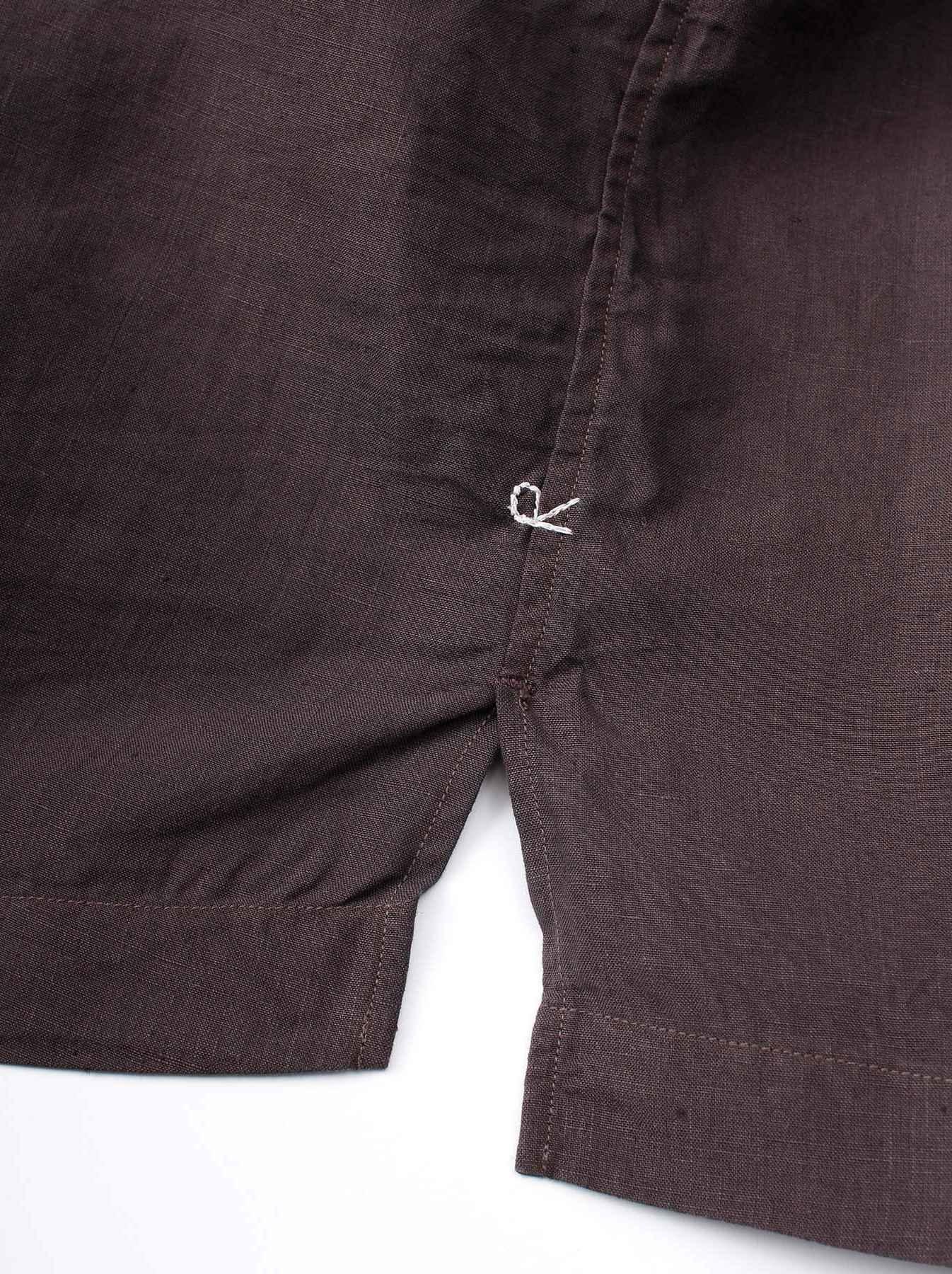WH Piece-dyed Linen 908 Safari Shirt-8