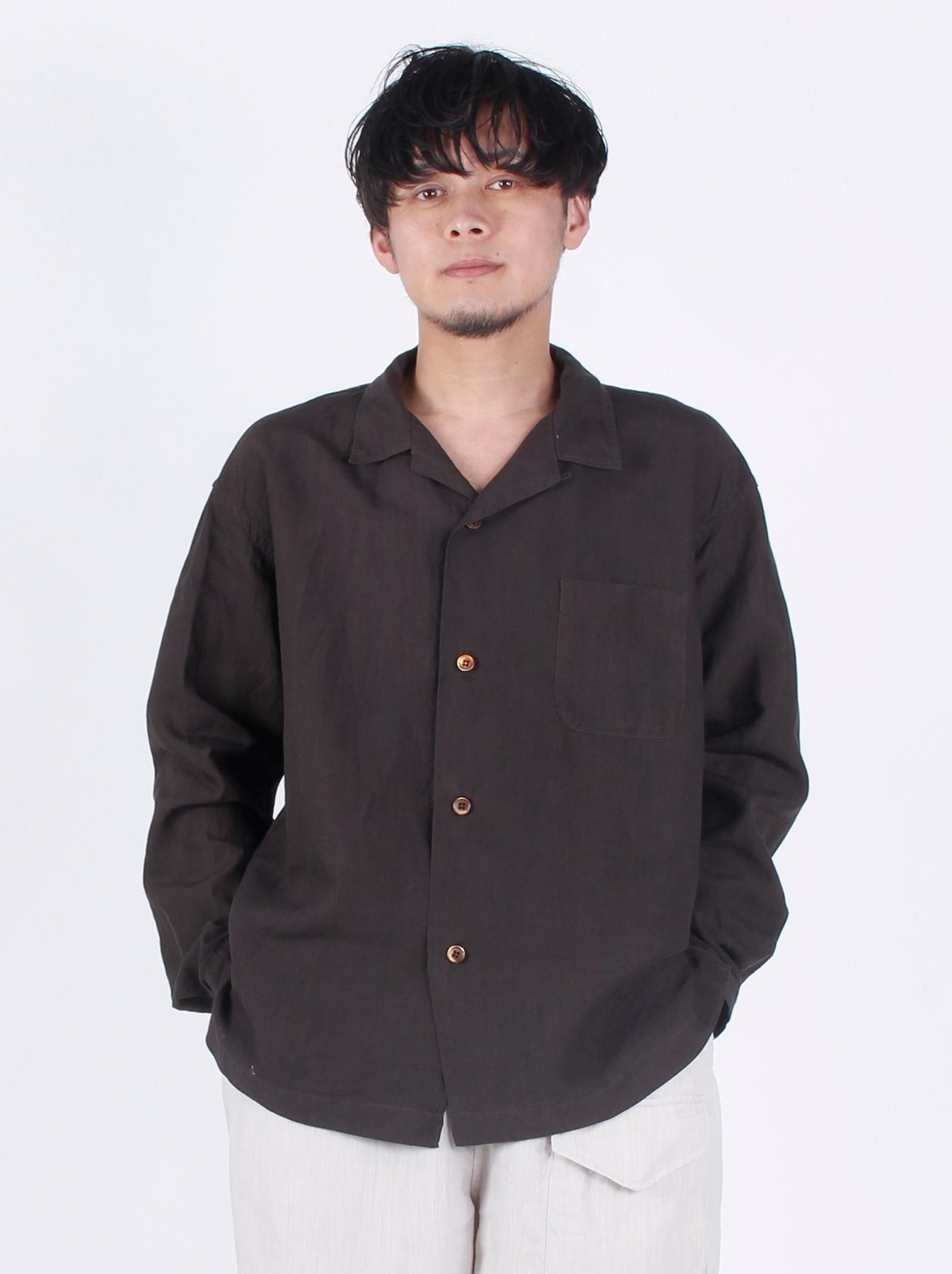 WH Piece-dyed Linen 908 Safari Shirt-5